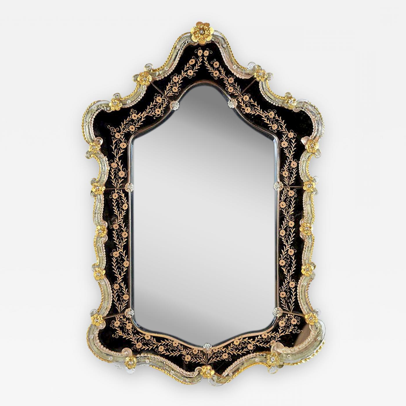 Trendy Venetian Style Wall Mirrors For 19th Century Italian Venetian Style Etched Wall Mirror (View 16 of 20)