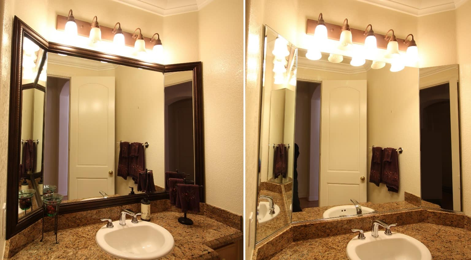 Tri Fold Bathroom Wall Mirrors With Newest Designs Daily Mirror Vanity And For Living Lighting Frame (View 14 of 20)