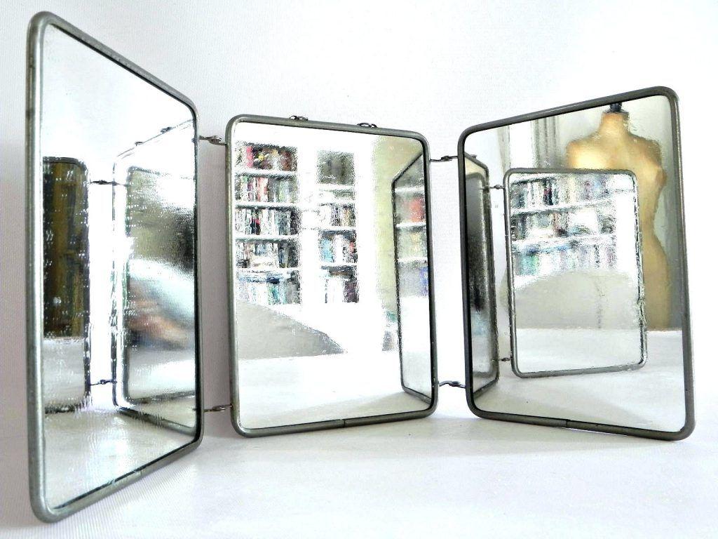 Tri Fold Wall Mirrors Inside 2020 Wall Mirrors: Tri Fold Wall Mounted Mirror Tri Fold Wall (View 1 of 20)
