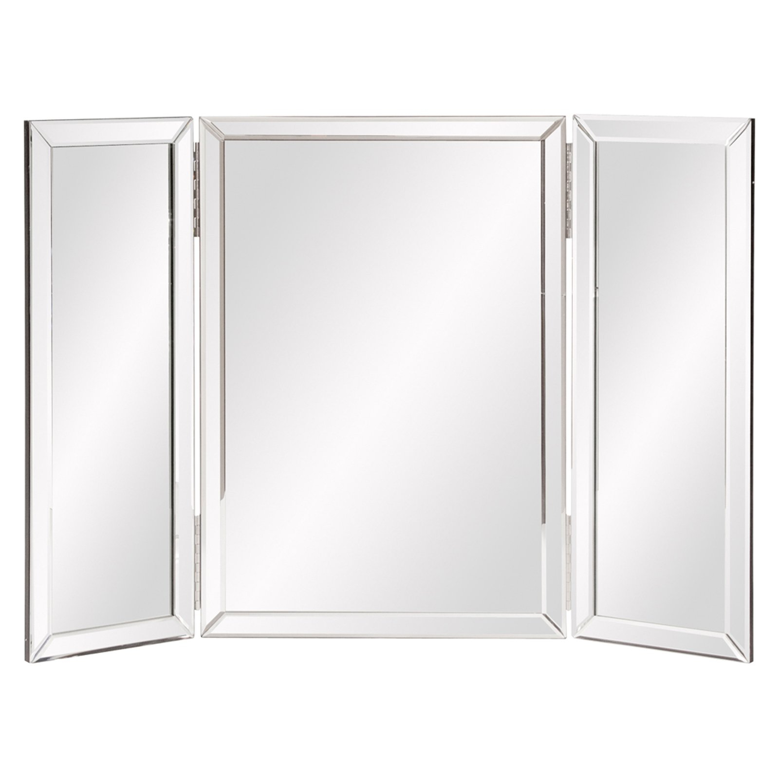 Tri Fold Wall Mirrors Within Well Known Elizabeth Austin Tripoli Trifold Vanity Mirror – 31W X 21H In (View 8 of 20)