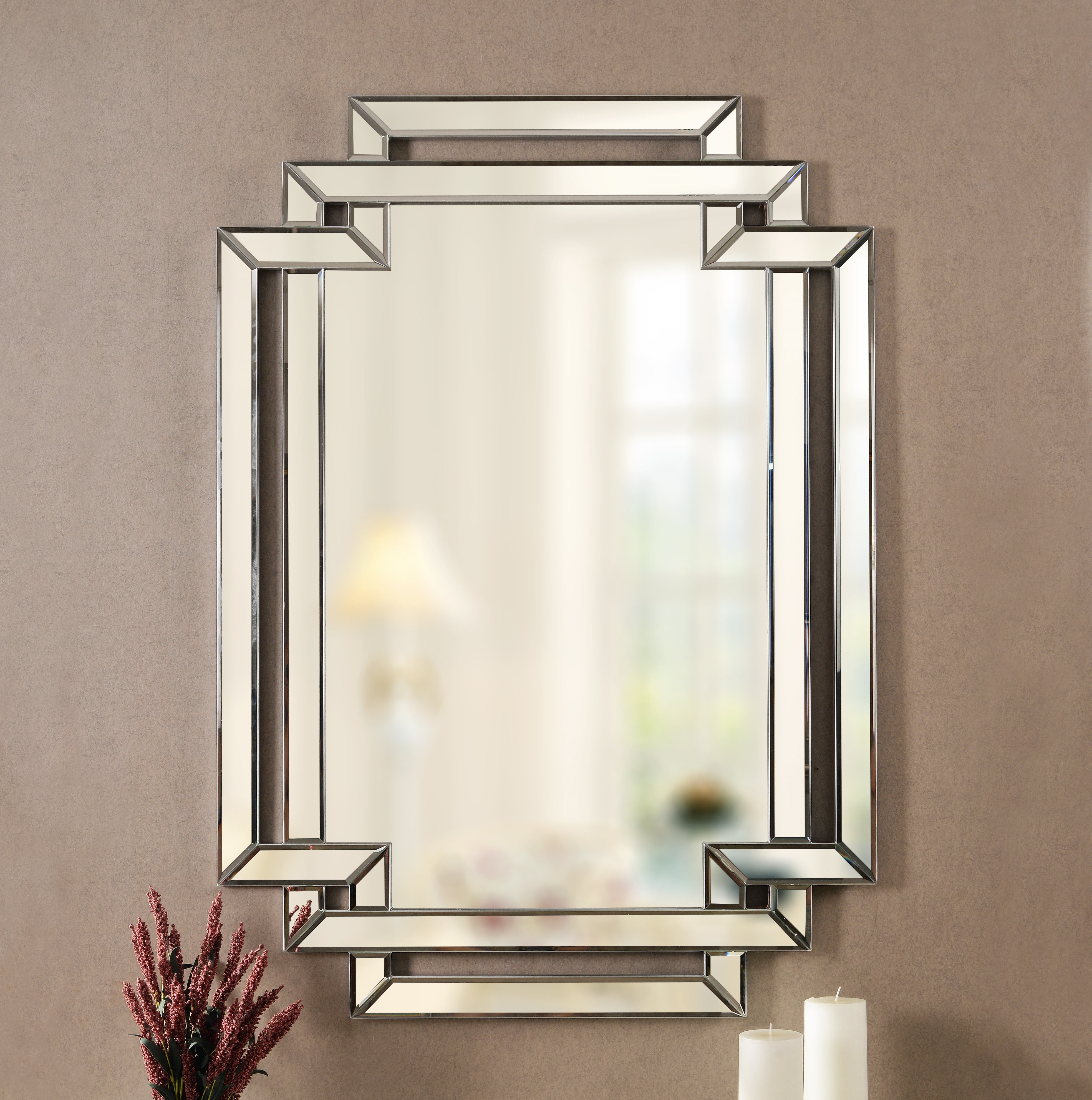 Trigg Accent Mirrors Throughout Famous Seren Traditional Beveled Accent Mirror (View 4 of 20)