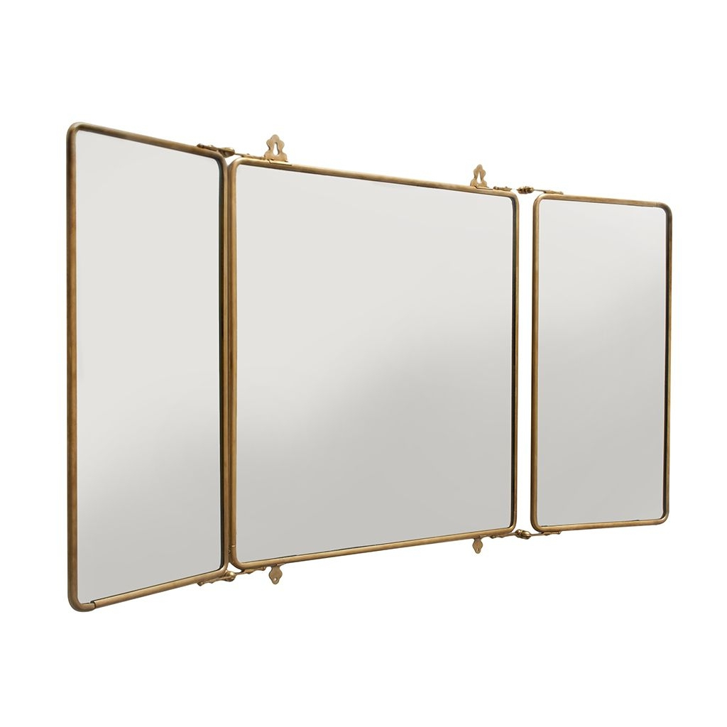 Triple Folding Wall Mirror • Bathroom Mirrors And Wall Mirrors With Fashionable Folding Wall Mirrors (View 8 of 20)