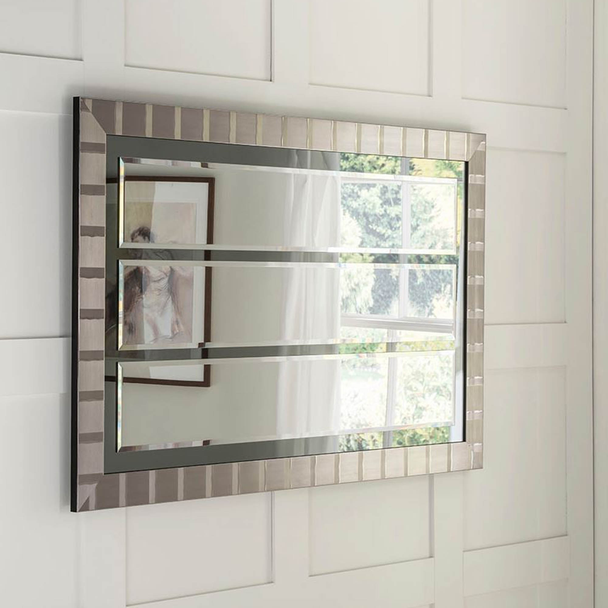 Triple Wall Mirrors In Popular Manhattan Grey Triple Laca Wall Mirror (View 16 of 20)