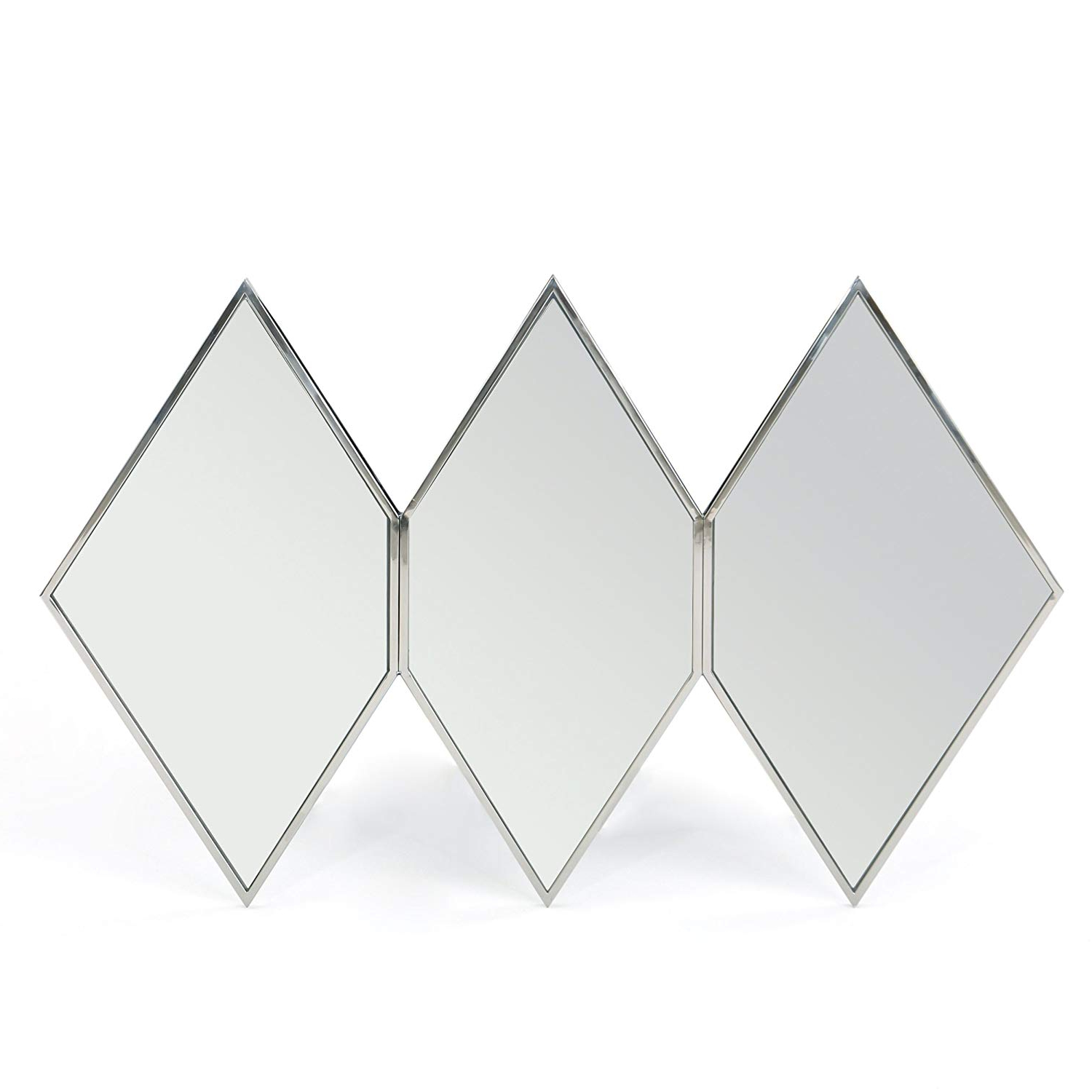 Triple Wall Mirrors With 2020 Amazon: Great Deal Furniture Sandra Triple Diamond Wall (View 19 of 20)