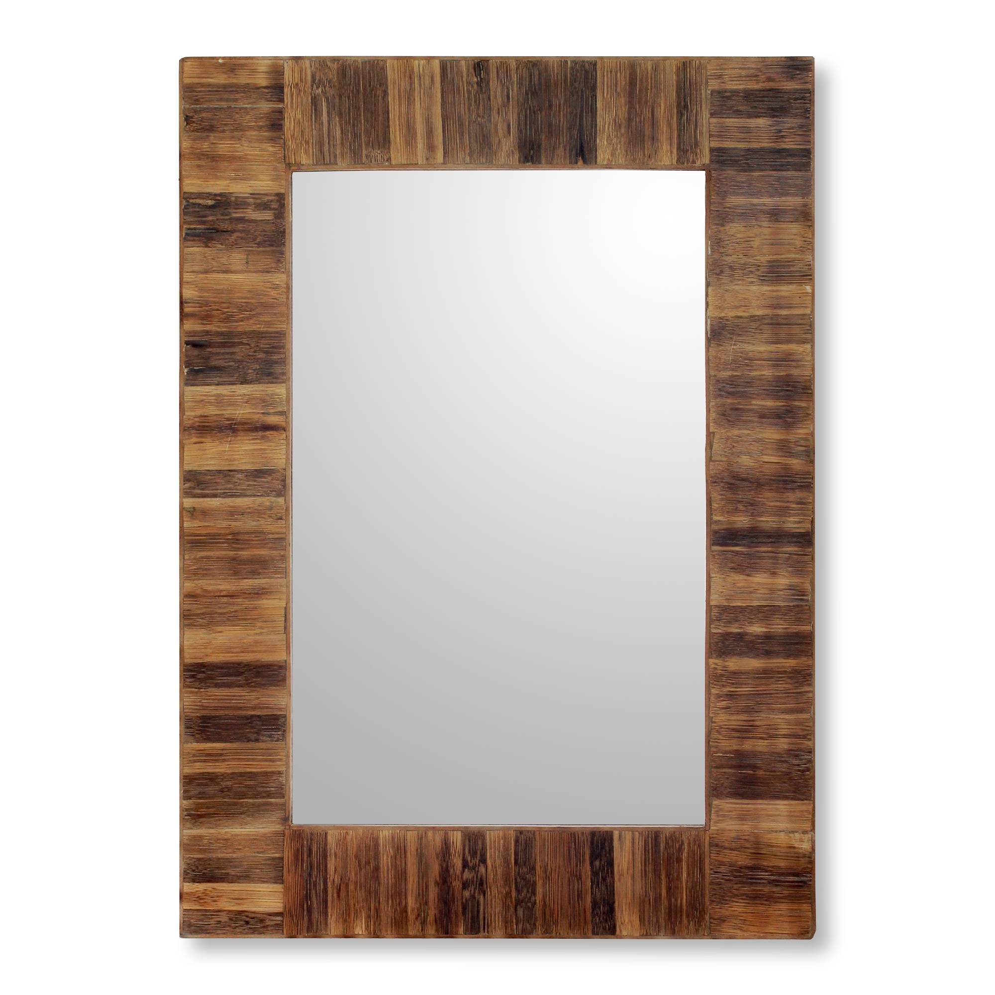Tropical Wall Mirrors In Well Liked Fair Trade Handcrafted Bamboo Wall Mirrorindian Artisan, 'tropical Bamboo' (View 6 of 20)