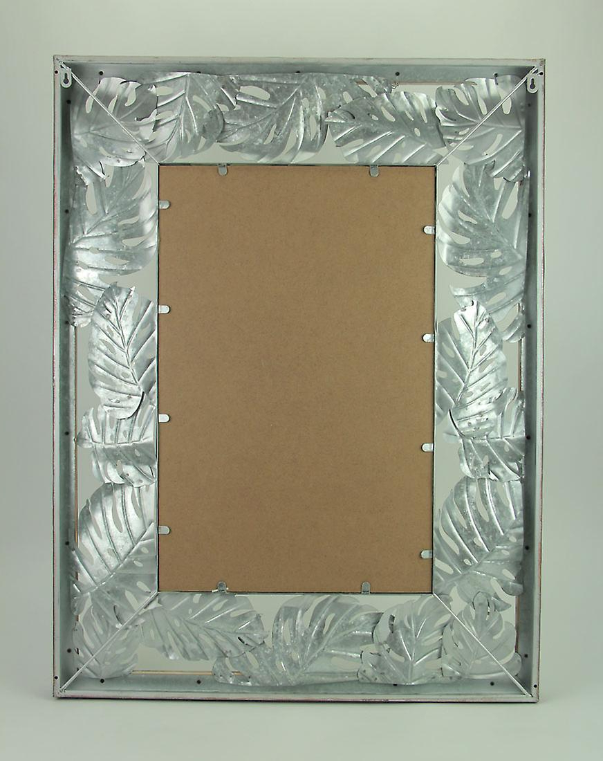 Tropical Wall Mirrors Throughout Most Recent Tropical Wood And Metal Monstera Leaf Design Wall Mirror (View 16 of 20)