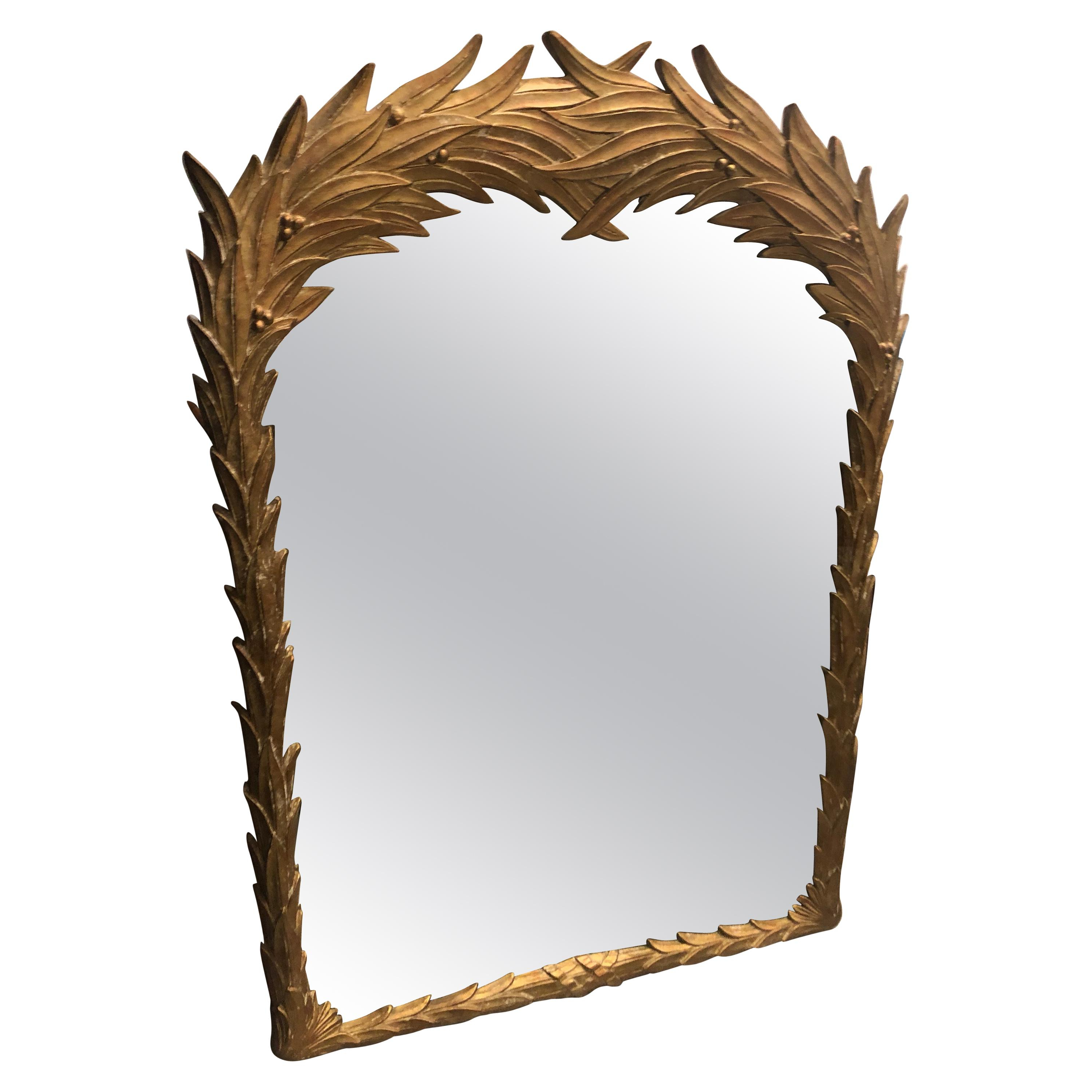 Tropical Wall Mirrors With Regard To Most Recently Released Vintage Palm Frond Wall Mirror Leaf Serge Roche Style Tropical Palm Beach (View 17 of 20)