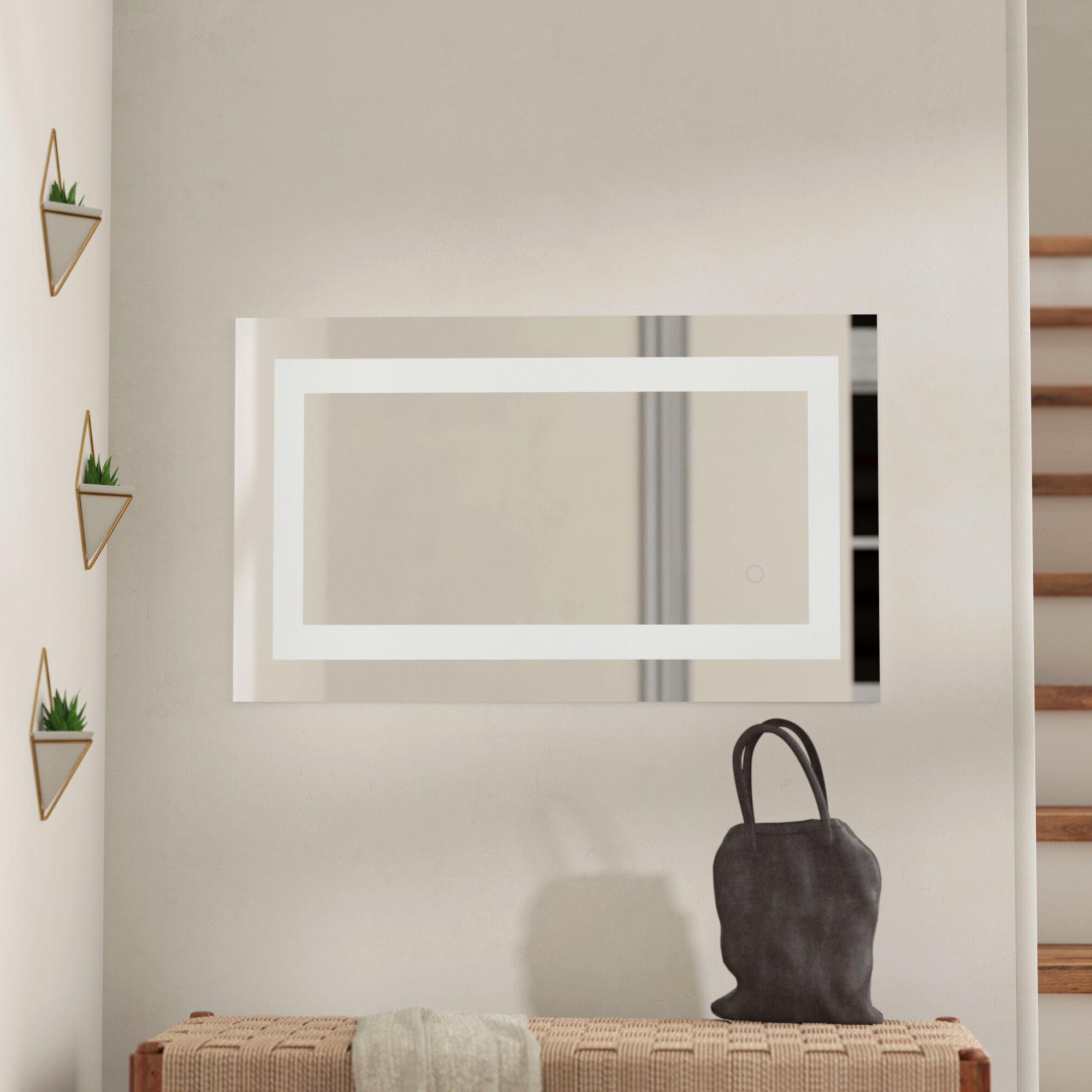 Tulloch Hardwired Led Lighted Bathroom Mirror With Well Known Lighted Wall Mirrors For Bathrooms (View 19 of 20)