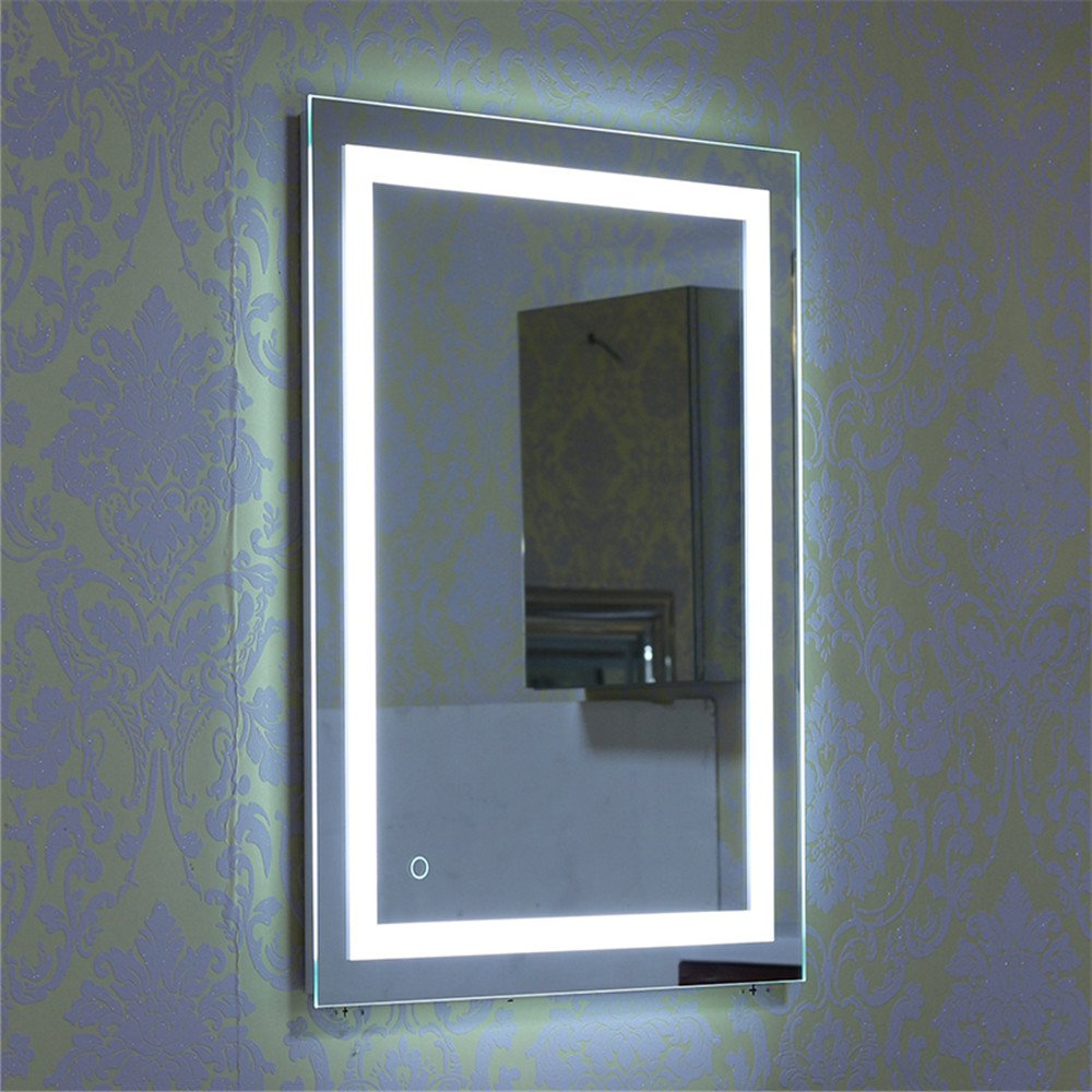 Turefans Bathroom Mirror, Wall Mirror, Led Mirror +22w+cool White + Touch Switch, (500 * 700) Intended For Most Current Cool Wall Mirrors (View 15 of 20)