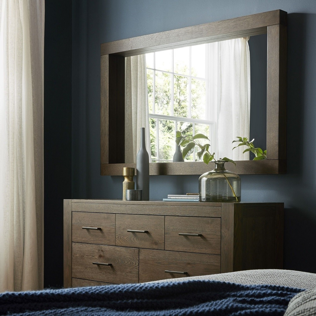 Turin Dark Oak Large Wall Mirror Throughout Well Known Bedroom Wall Mirrors (View 18 of 20)