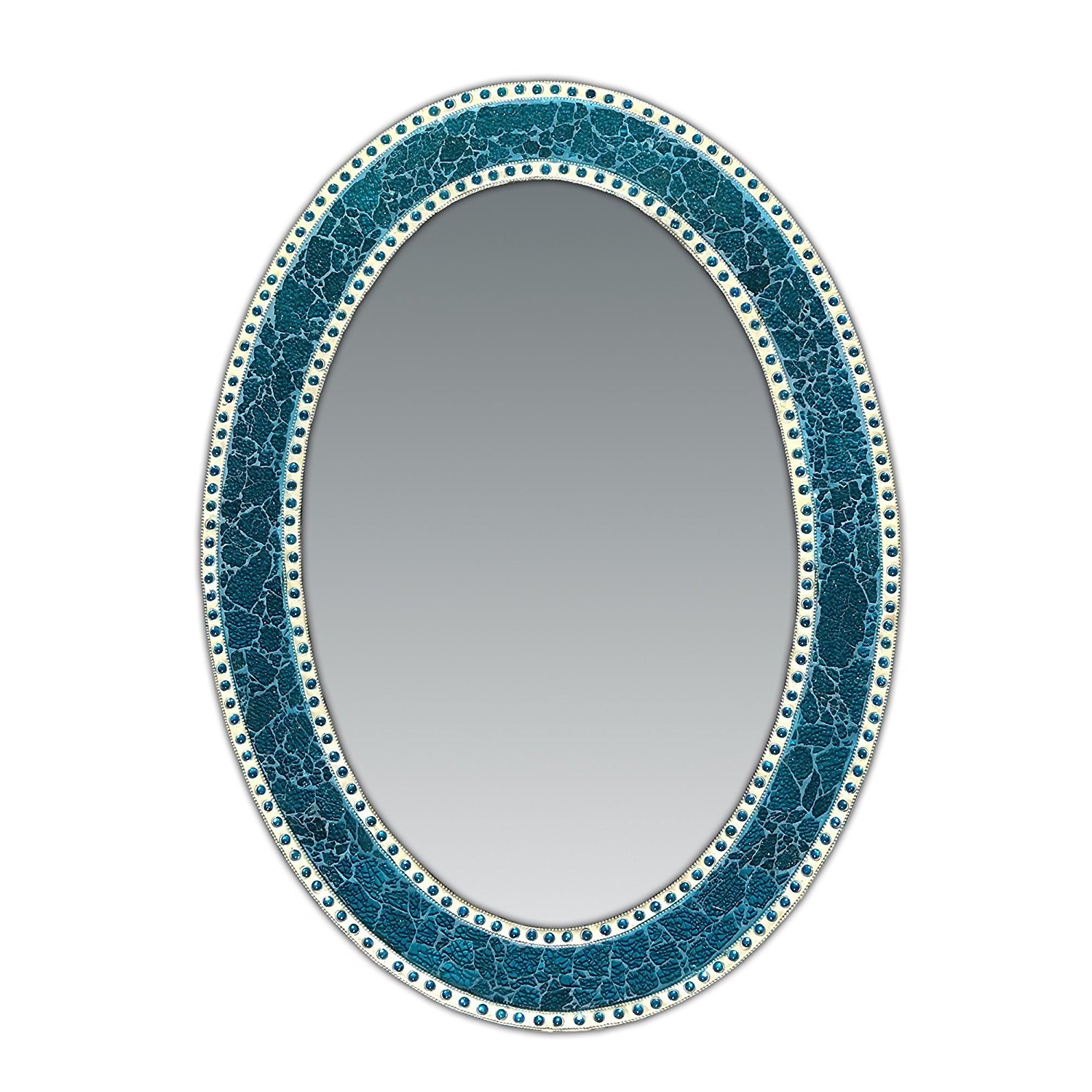 """Turquoise Wall Mirrors Inside Trendy 32.5""""x (View 12 of 20)"""