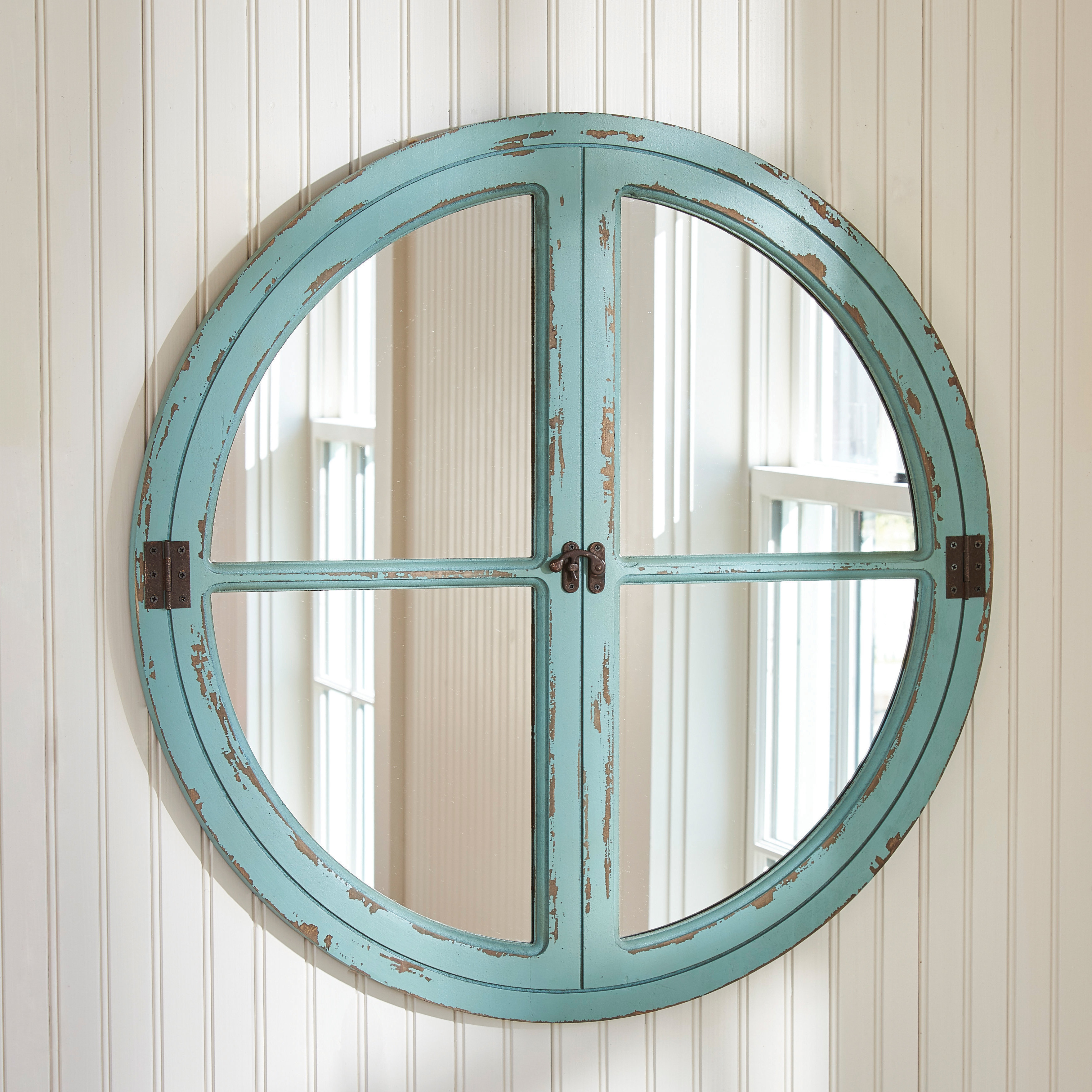 Turquoise Wall Mirrors Throughout Current Round Window Sea Wall Mirror (View 14 of 20)