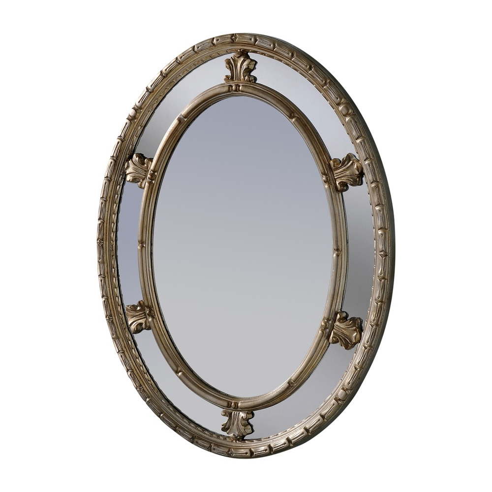 Tuscan Style Wall Mirrors Throughout Most Popular Tuscany Oval Wall Mirror – Silver (View 20 of 20)
