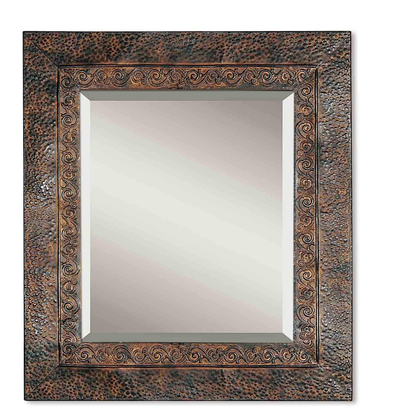 Tuscan Style Wall Mirrors With Regard To Most Recently Released Amazon: Zinc Decor Mediterranean Metal Brown Tuscan Beveled Wall (View 5 of 20)