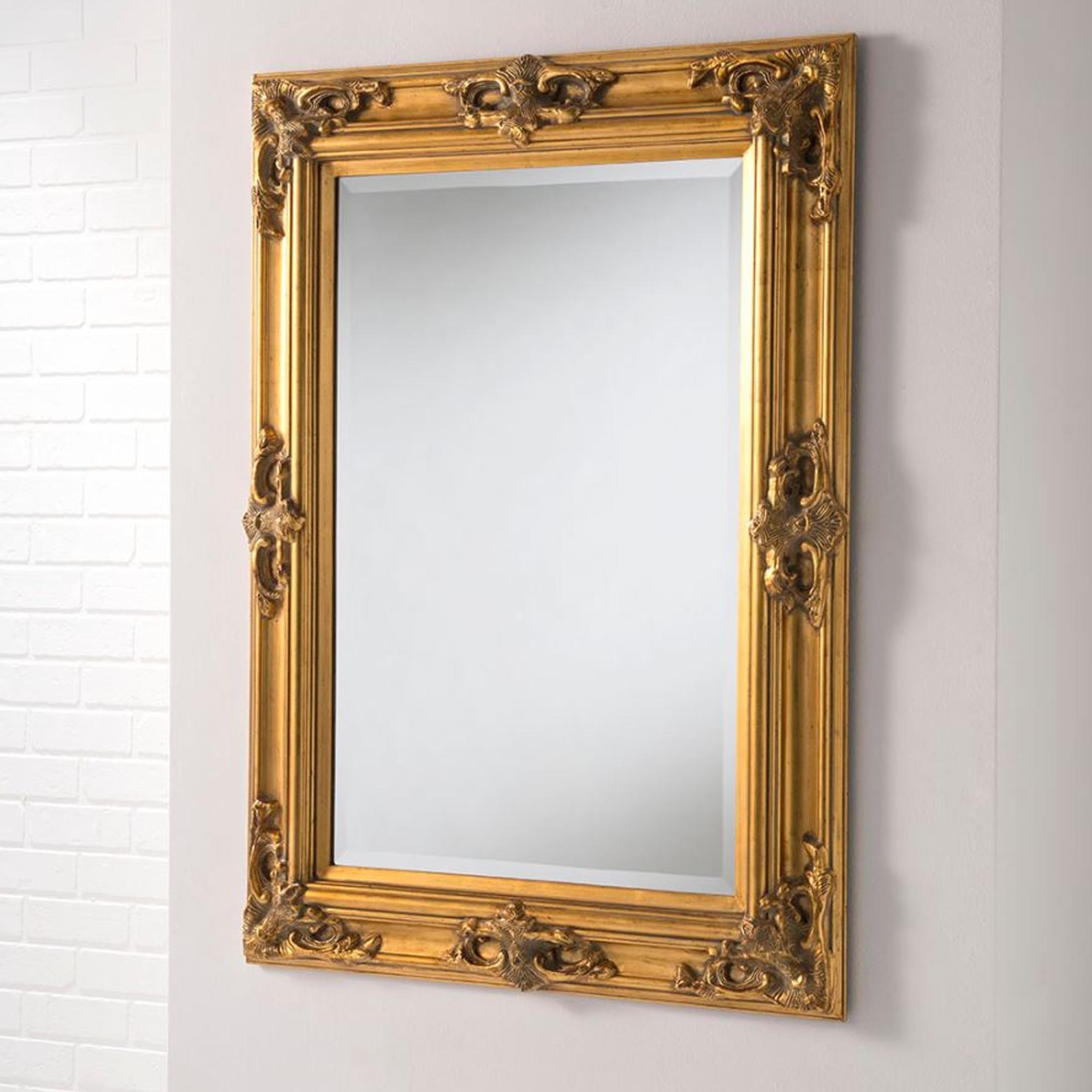 Tuscany Antique French Style Gold Wall Mirror For Trendy Tuscan Style Wall Mirrors (View 4 of 20)