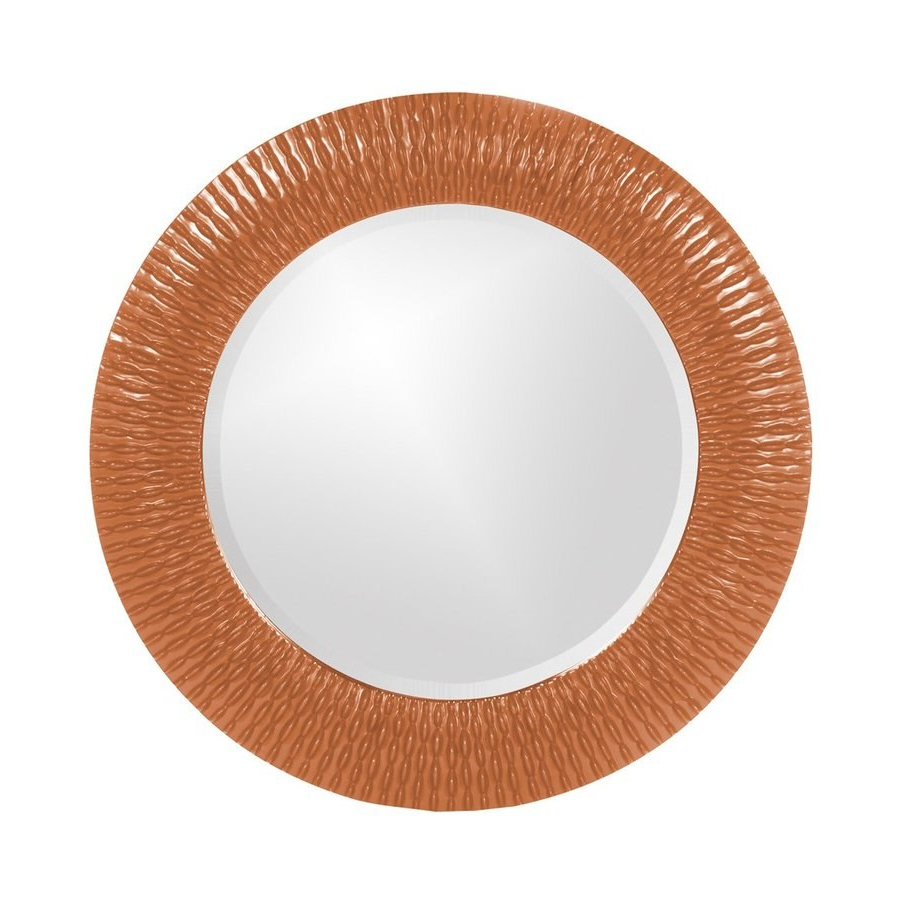 Tyler Dillon Bergman 32 In L X 32 In W Orange Framed Round Wall With Most Recent Orange Framed Wall Mirrors (View 17 of 20)