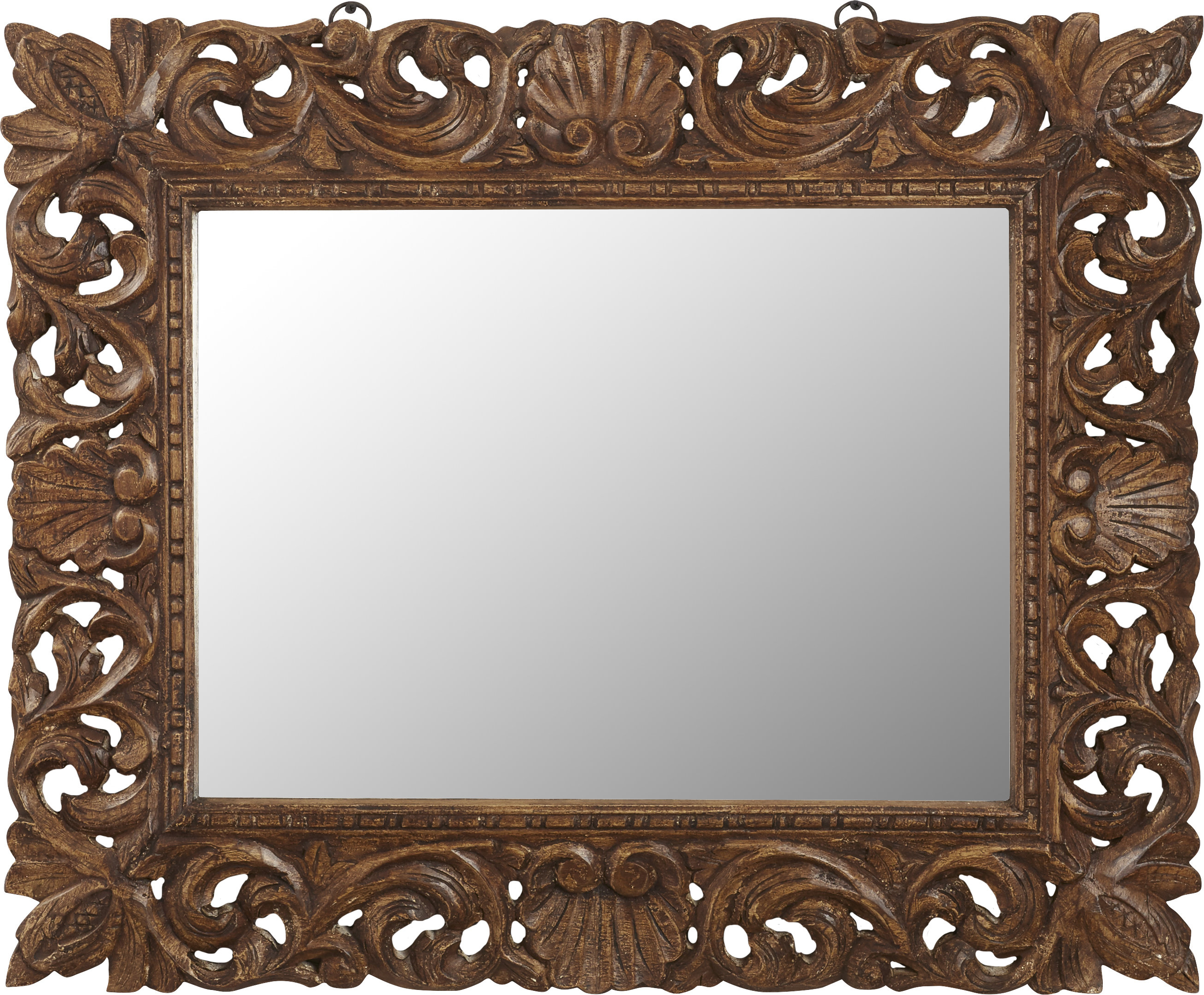 Ulus Accent Mirrors With Regard To Popular Reclaimed Wood Traditional Beveled Distressed Wall Mirror (View 20 of 20)
