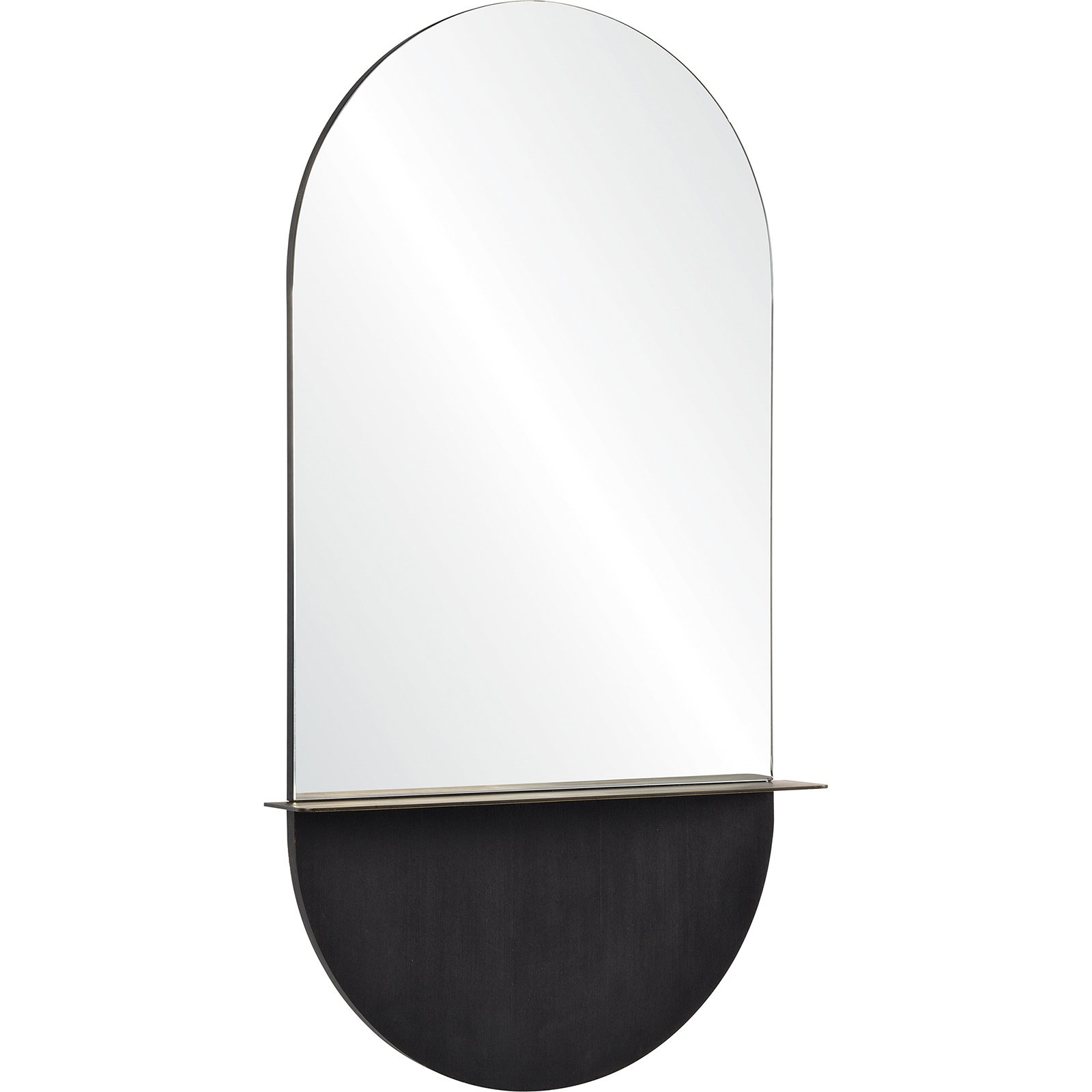 Unframed Wall Mirrors For Well Known Renwil Lisdarra Glass And Brass Unframed Wall Mirror – 24w X 44h In (View 15 of 20)