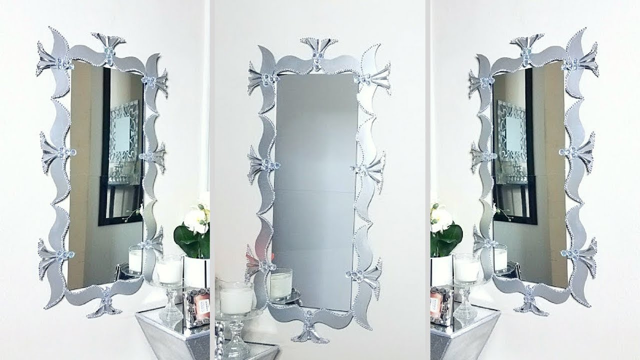 Unique Wall Mirror Decors Throughout Well Known Using Cereal Boxes To Make A Unique Wall Mirror Decor! (Gallery 13 of 20)