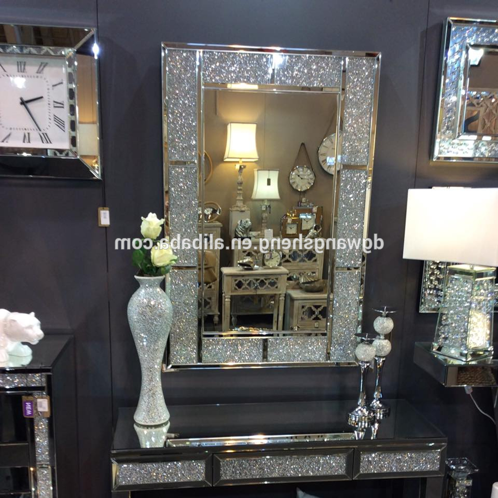 Unique Wall Mirrors Within Newest Rectangle Framed Crushed Diamond Fancy Wall Mirror – Buy Unique Wall  Mirrors,decorative Wall Mirror,wall Mirrors Product On Alibaba (Gallery 20 of 20)