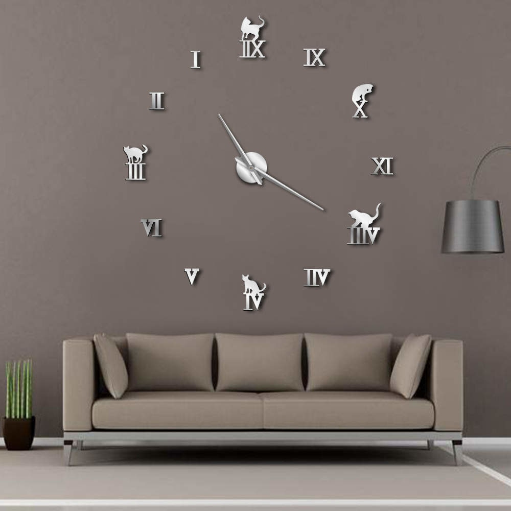 [%us $11.39 5% Off|3d Large Wall Clock Diy Large Modern Frameless Home Decor Cat Big Clock Mirror For Bedroom Living Room Kittens Kitty Wall Decor In For Recent Diy Large Wall Mirror|diy Large Wall Mirror Throughout Most Recently Released Us $11.39 5% Off|3d Large Wall Clock Diy Large Modern Frameless Home Decor Cat Big Clock Mirror For Bedroom Living Room Kittens Kitty Wall Decor In|popular Diy Large Wall Mirror Regarding Us $11.39 5% Off|3d Large Wall Clock Diy Large Modern Frameless Home Decor Cat Big Clock Mirror For Bedroom Living Room Kittens Kitty Wall Decor In|most Recently Released Us $ (View 13 of 20)