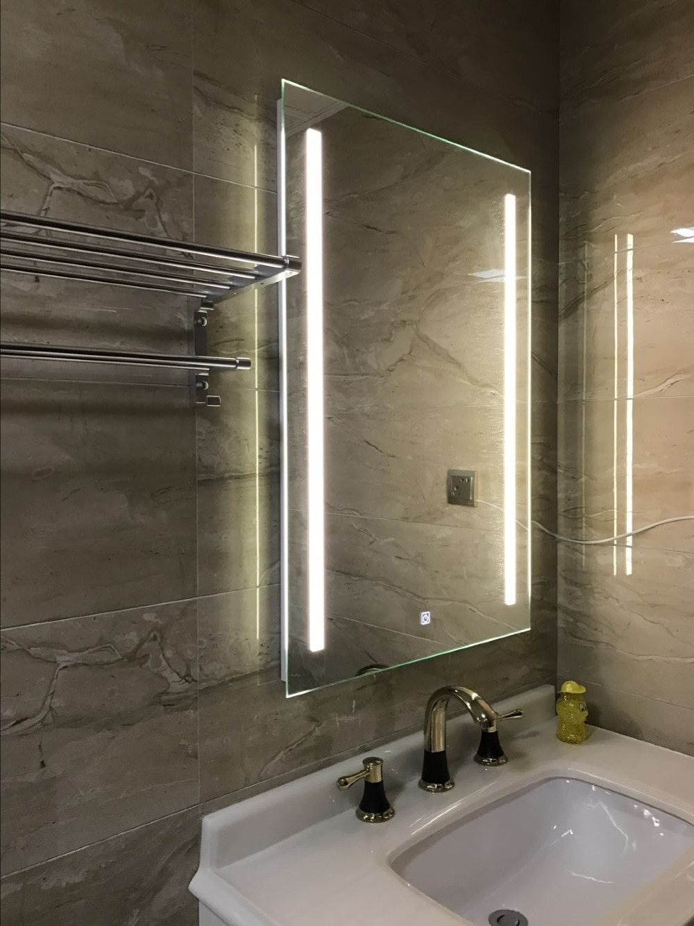 [%Us $180.0 10% Off|Waterproof Wall Mount Led Lighted Bathroom Mirror Vanity Defogger 2 Vertical Lights Rectangular Touch Light Mirror Bath Mirrors In Pertaining To Preferred Lighted Bathroom Wall Mirrors|Lighted Bathroom Wall Mirrors For 2019 Us $180.0 10% Off|Waterproof Wall Mount Led Lighted Bathroom Mirror Vanity Defogger 2 Vertical Lights Rectangular Touch Light Mirror Bath Mirrors In|Well Liked Lighted Bathroom Wall Mirrors For Us $180.0 10% Off|Waterproof Wall Mount Led Lighted Bathroom Mirror Vanity Defogger 2 Vertical Lights Rectangular Touch Light Mirror Bath Mirrors In|2019 Us $ (View 17 of 20)