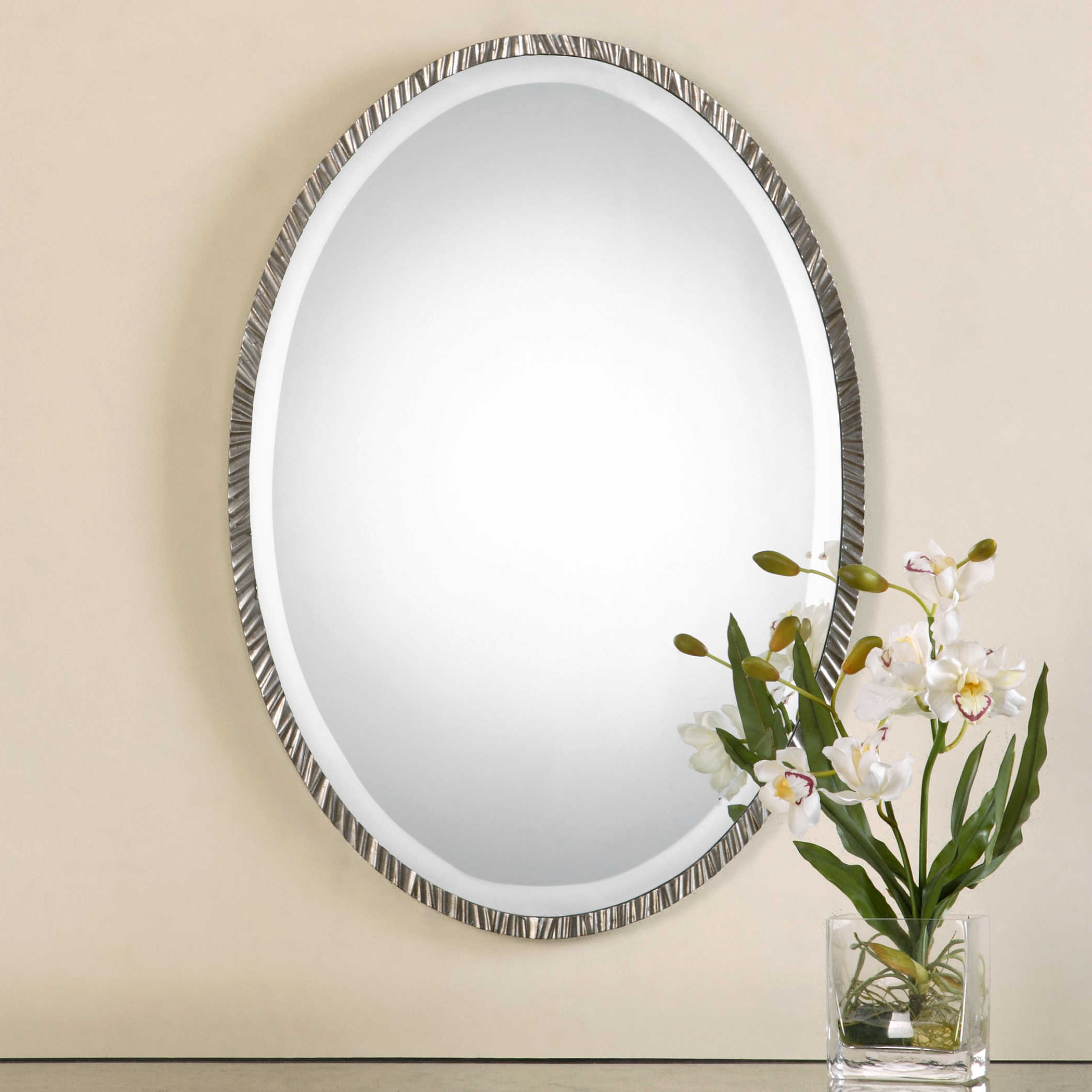 Uttermost Annadel Oval Wall Mirror For Latest Burnes Oval Traditional Wall Mirrors (View 13 of 20)