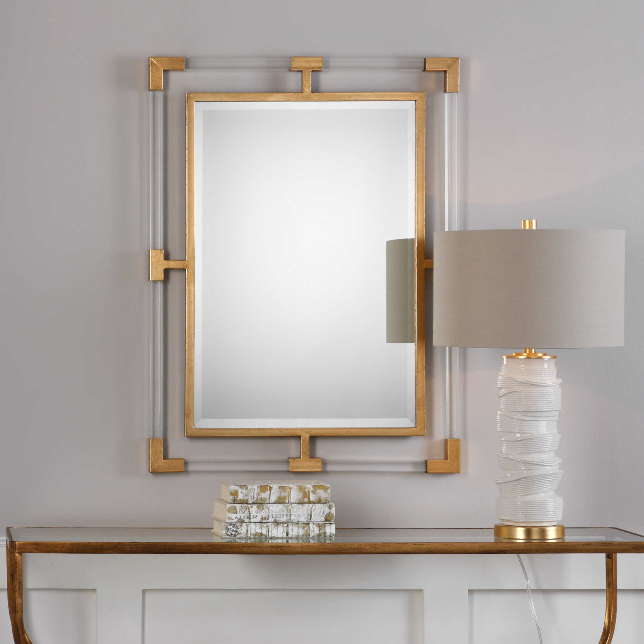 Uttermost Balkan Modern Gold Wall Mirror For Most Popular Uttermost Wall Mirrors (View 13 of 20)