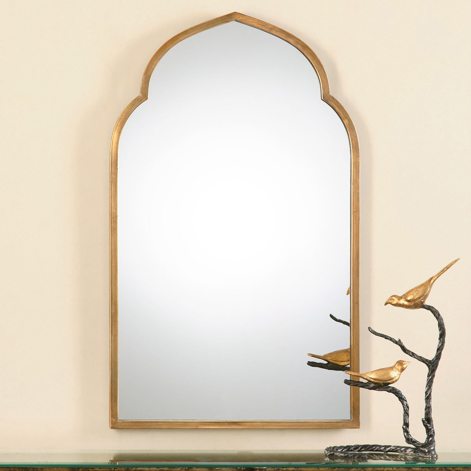 Uttermost Kenitra Gold Arch Decorative Wall Mirror – Antique Silver – 24x40x (View 3 of 20)