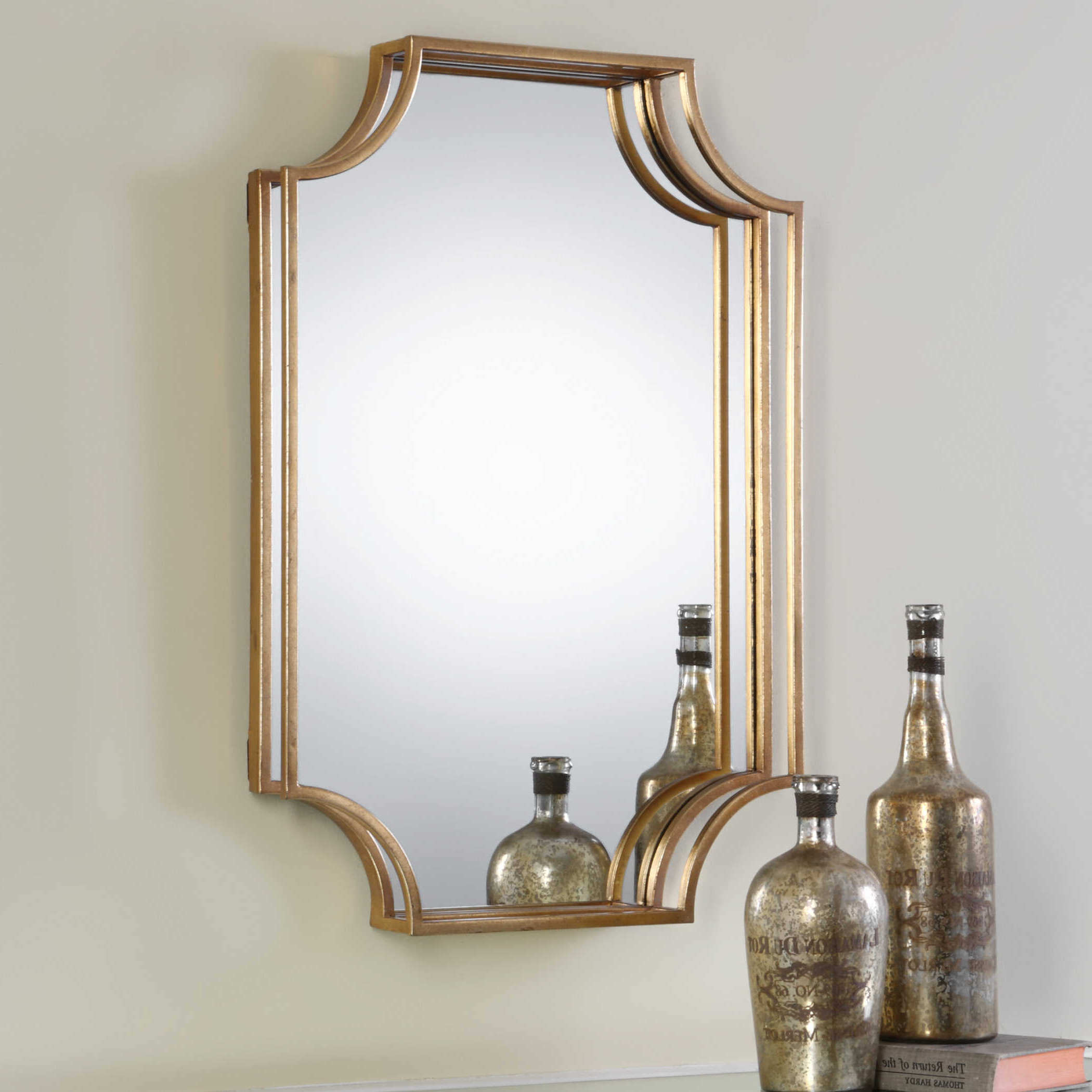 Uttermost Lindee Gold Wall Mirror Regarding Newest Uttermost Wall Mirrors (View 16 of 20)