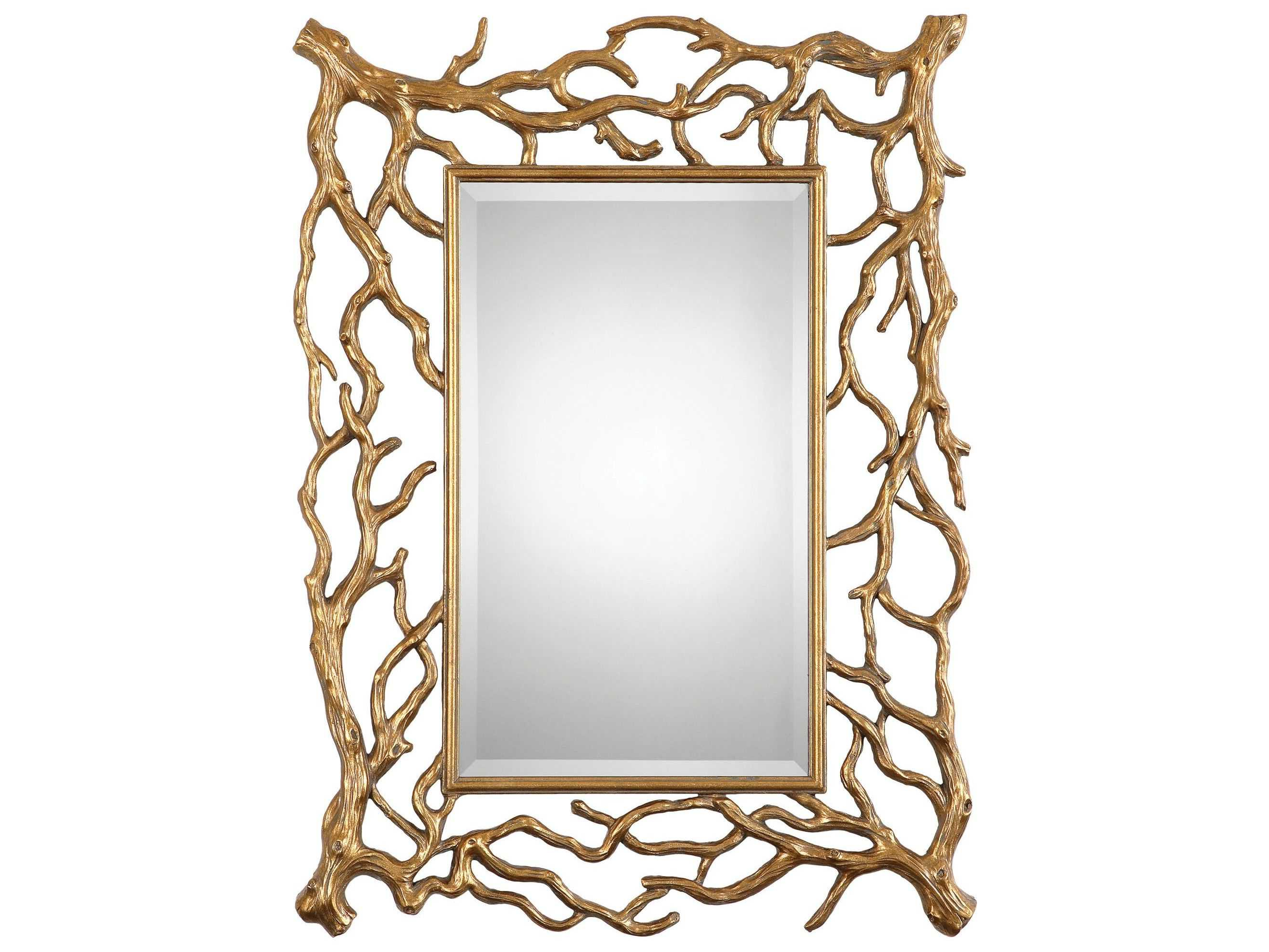 Uttermost Sequoia 30 X 40 Gold Tree Branch Wall Mirror Pertaining To Well Known Talida Wall Mirrors (View 17 of 20)
