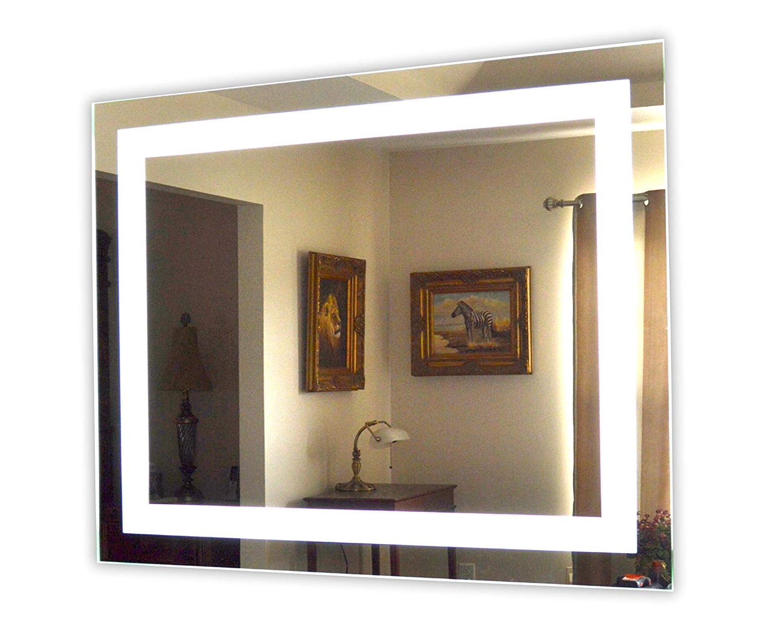 """Vanity Mirrors For Well Known Amazon: Led Front Lighted Bathroom Vanity Mirror: 40"""" Wide X (View 4 of 20)"""