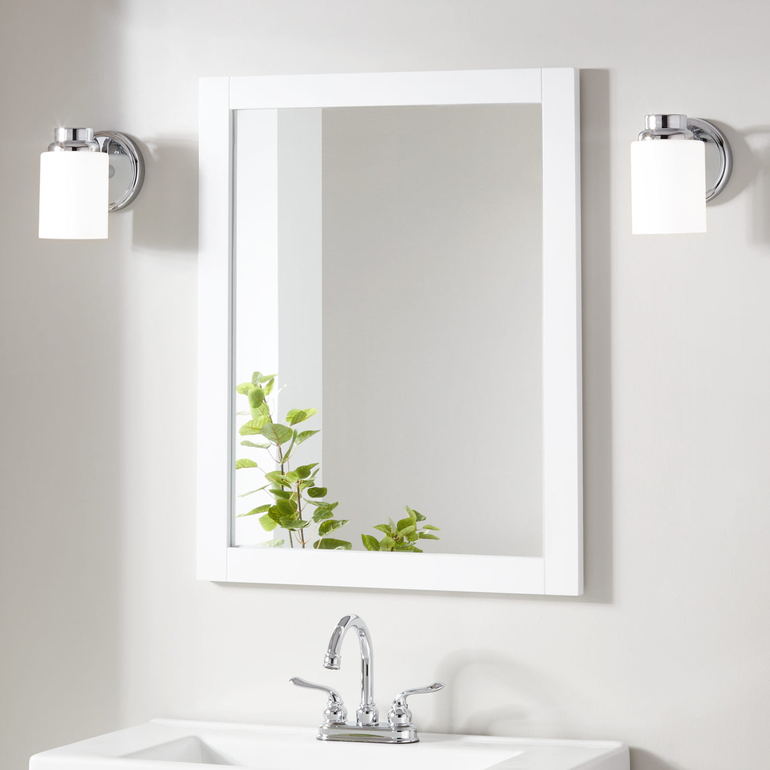 Vanity Mirrors Pertaining To Widely Used Lander Vanity Mirror – White (View 3 of 20)