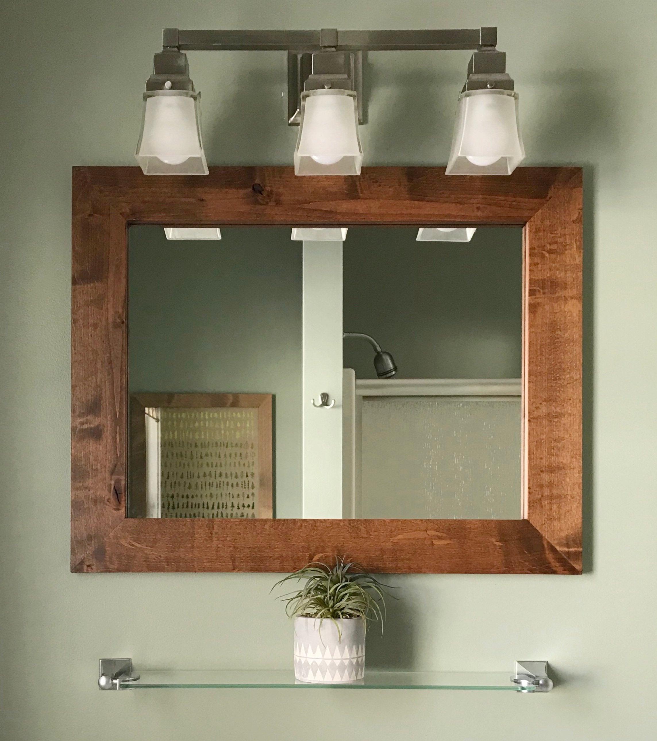 Vanity Mirrors With Regard To Best And Newest Vanity Mirror // Contemporary Rustic Vanity Mirror // Wooden Vanity Mirror // Contemporary Mirror // Framed Mirror // Bathroom Vanity Mirror (View 16 of 20)