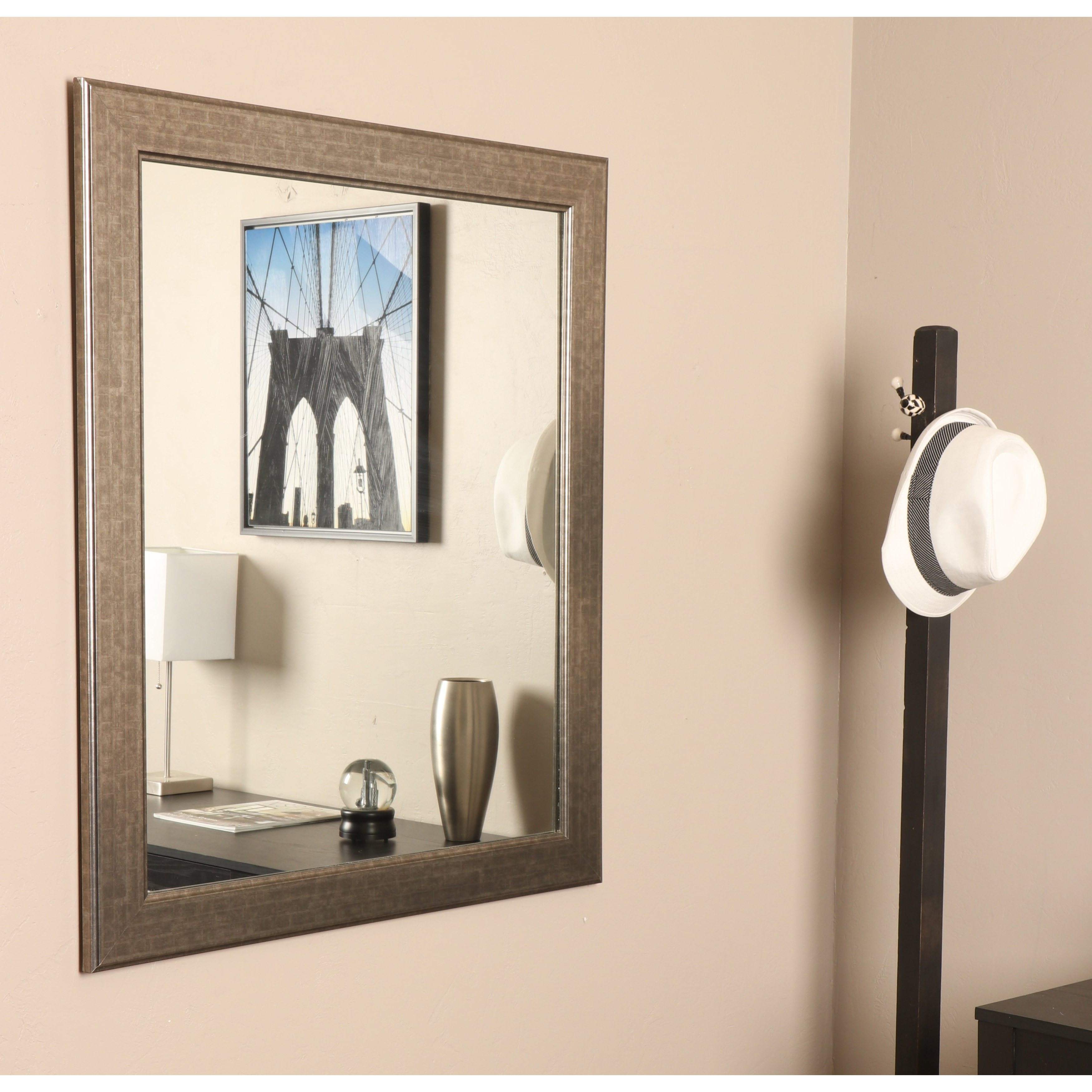Vanity Wall Mirrors With Most Popular Brandtworks Subway Silver Framed Vanity Wall Mirror 27''x 32'' – N (View 20 of 20)