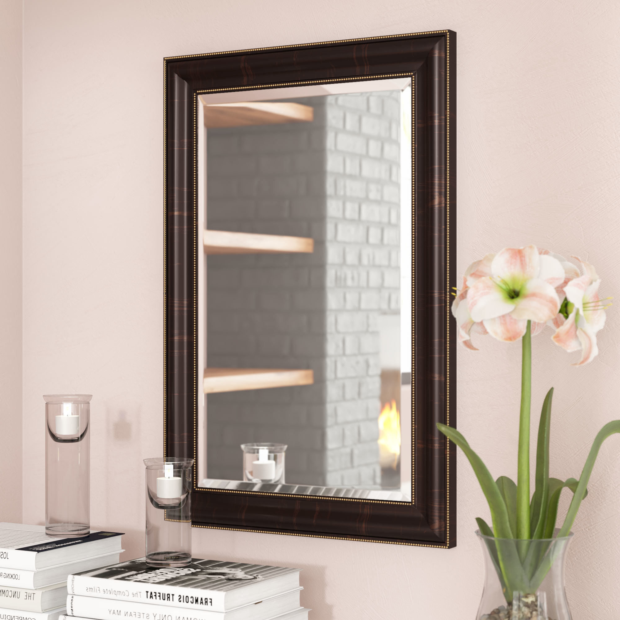 Vassallo Beaded Bronze Beveled Wall Mirrors For 2019 Traditional Beaded Accent Mirror (Gallery 14 of 20)
