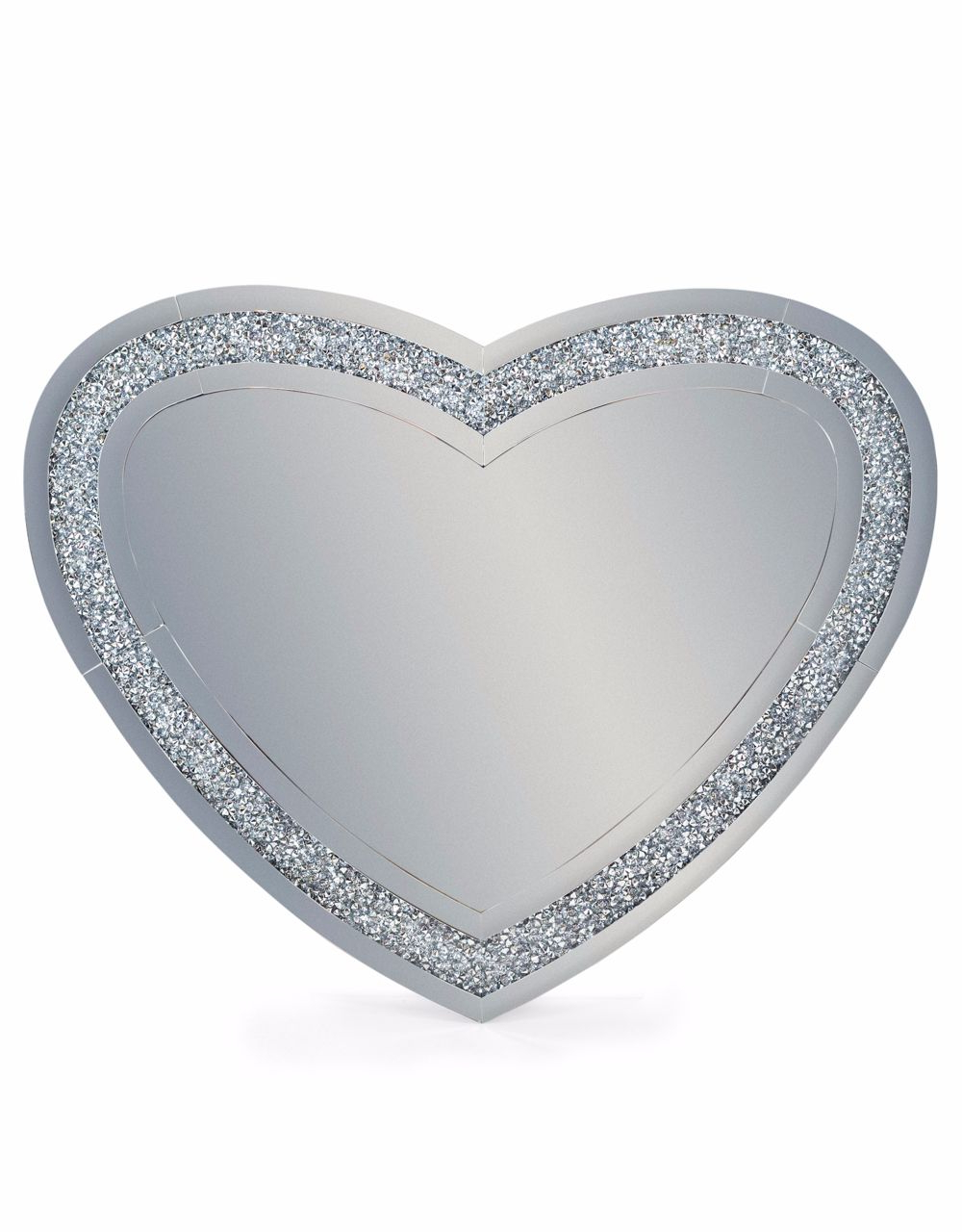 Venetian Diamond Border Large Love Heart Wall Mirror In Fashionable Heart Wall Mirrors (View 17 of 20)