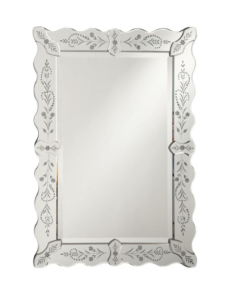 Venosa 25 Inch Venetian Style Wall Mirror Ym 704 2536 Within Most Current Venetian Style Wall Mirrors (View 15 of 20)