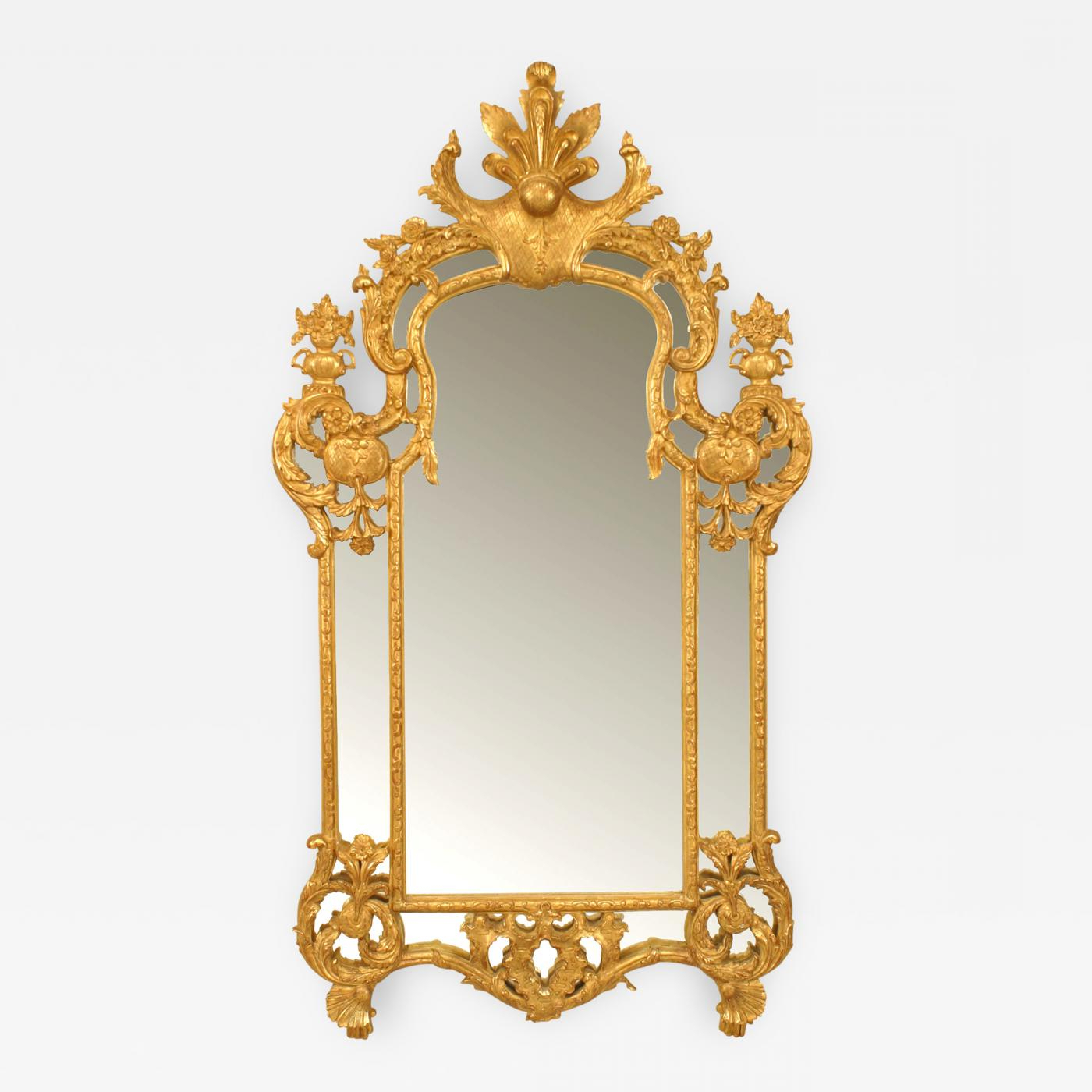 Vertical Wall Mirrors With Fashionable French Régence Style Gilt Vertical Wall Mirror (View 6 of 20)