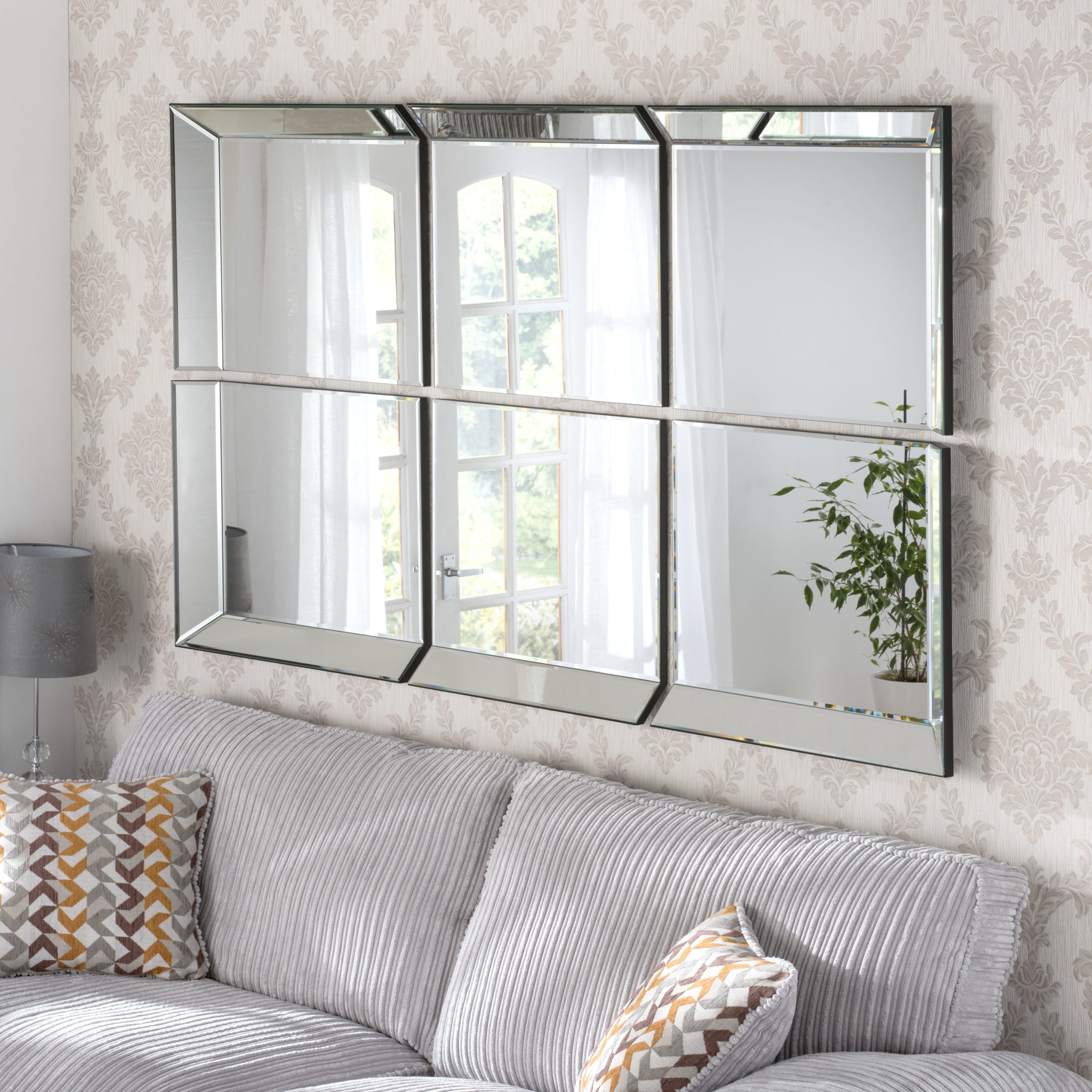 Victoria Window Styled Handmade Bevelled Over Mantle Wall Mirrors Regarding Popular Wall Mirrors (View 10 of 20)