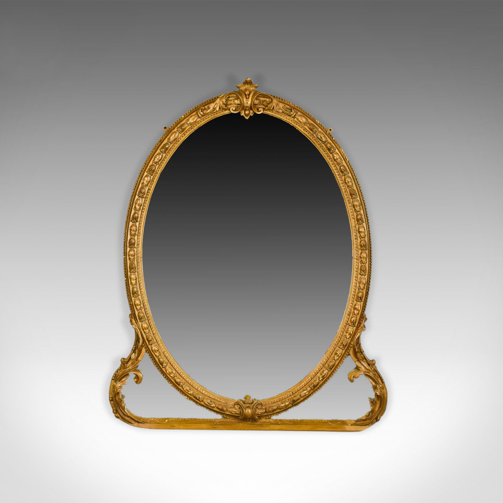 Victorian Wall Mirrors In Famous Antique Wall Mirror, English, Victorian, Gilt Gesso, Overmantel (View 9 of 20)