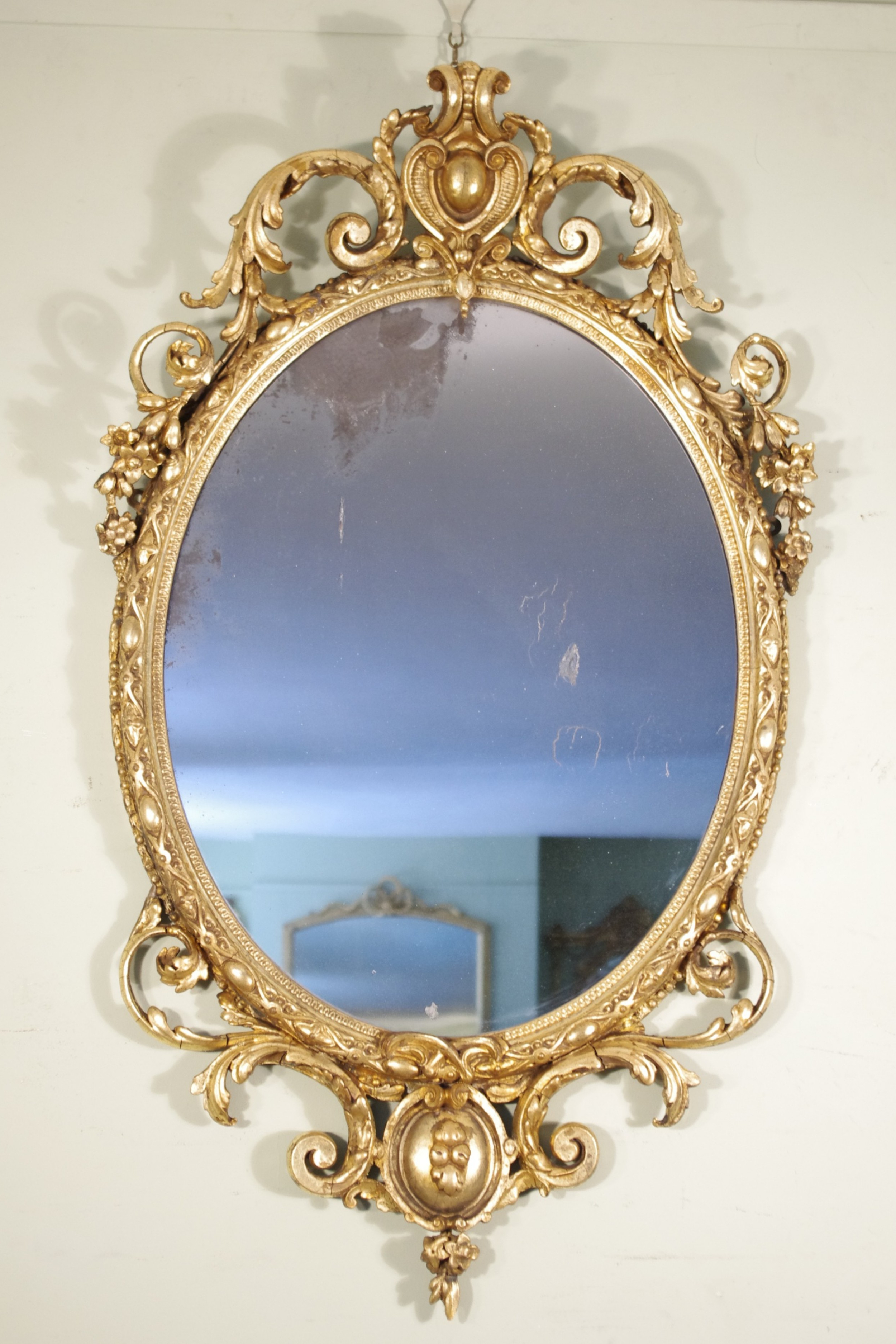 Victorian Wall Mirrors Pertaining To Most Popular Victorian Gilt Oval Wall Mirror (View 11 of 20)