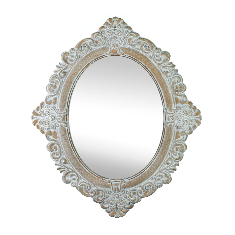Vintage Amelia Taupe Mirror (accent Plus) Inside Preferred Oval Wood Wall Mirrors (View 12 of 20)