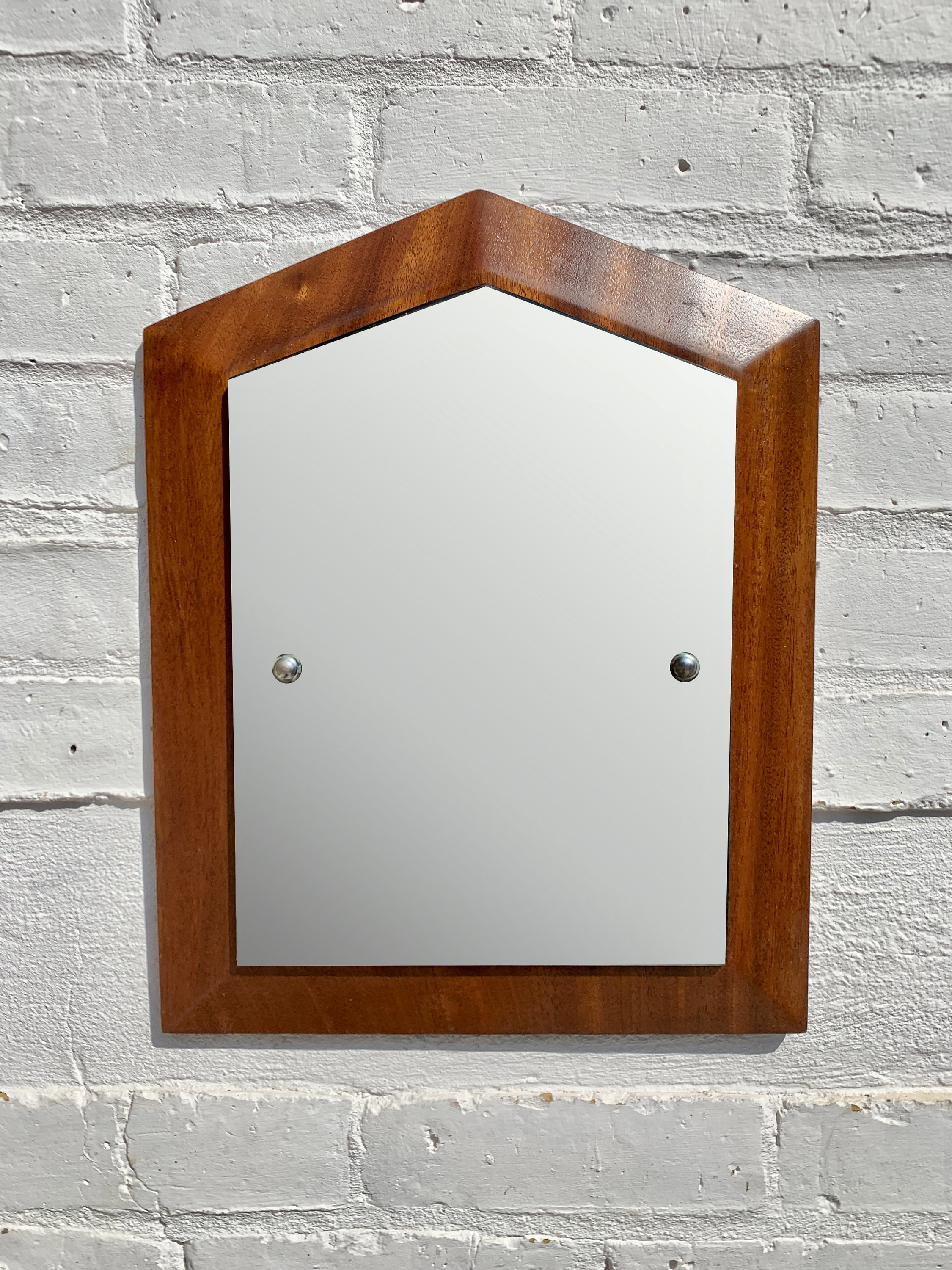 Vintage Small Wall Mirror Teak Frame With Regard To Recent Small Vintage Wall Mirrors (View 17 of 20)