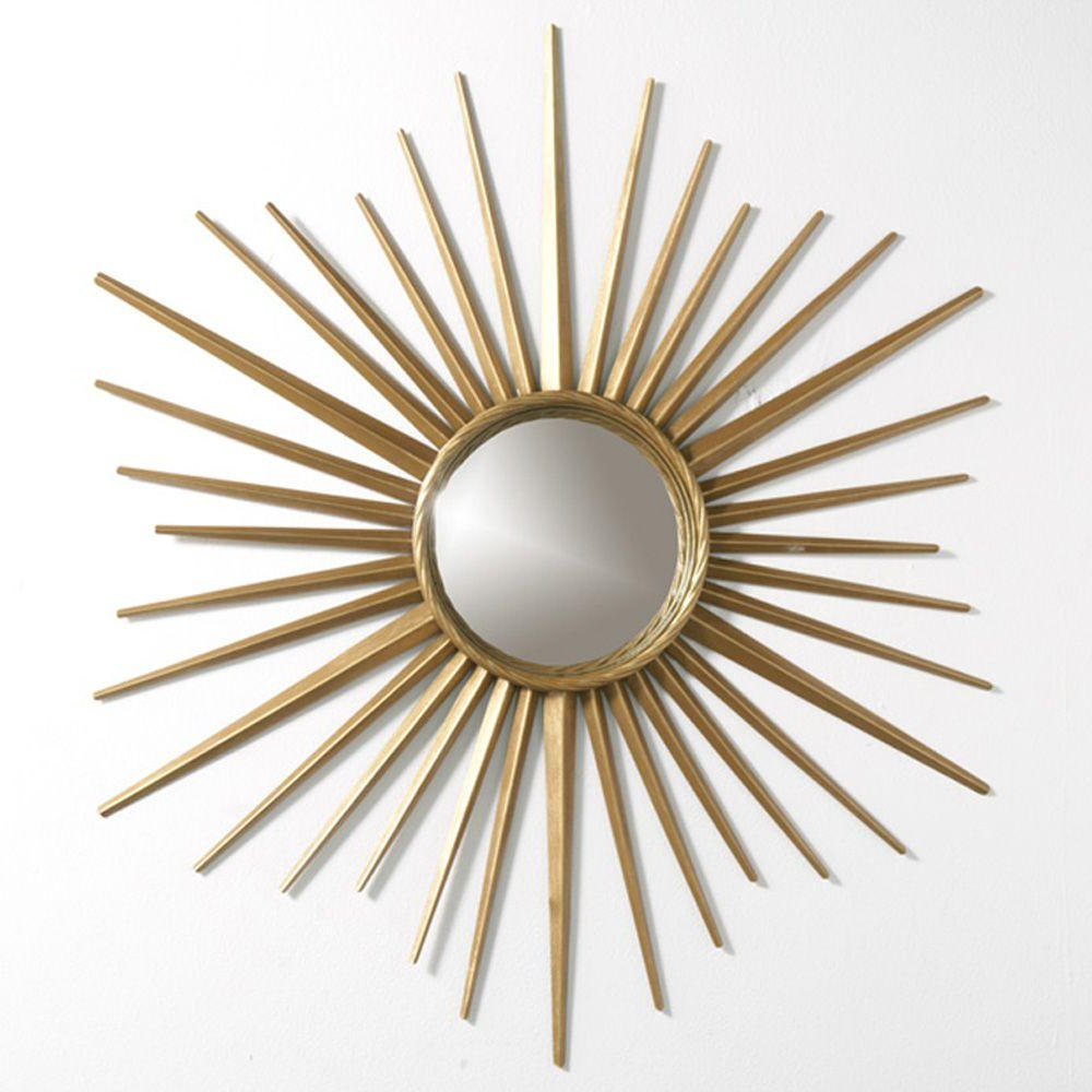 Wales 30 In. X 30 In. Metal Antique Gold Framed Mirror Regarding Most Recently Released Starburst Wall Mirrors (Gallery 16 of 20)