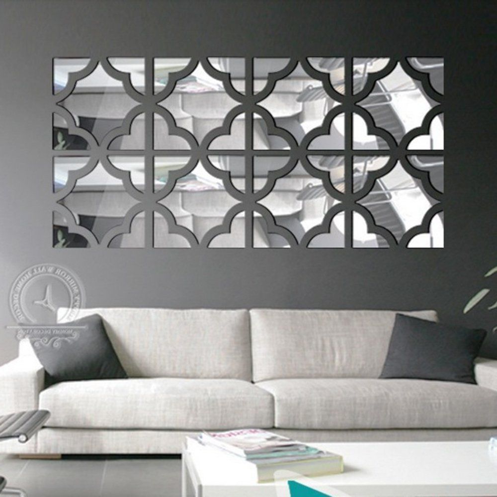 Wall Decor: Towallmark Acrylic Removable Art 3d Wall Mirror Inside Most Up To Date Wall Mirror Decals (View 8 of 20)