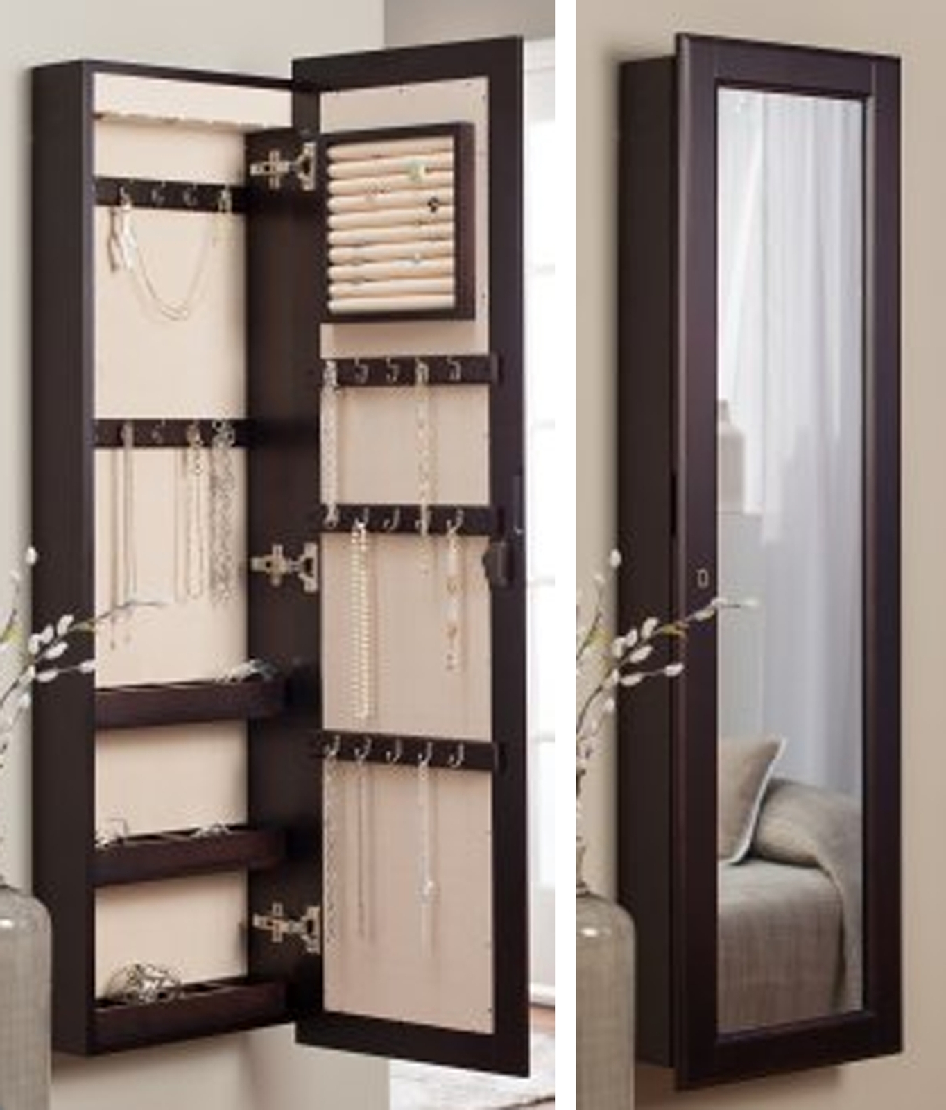 Wall Hanging Mirror Jewelry Box • Bathroom Mirrors And Wall Mirrors Inside Fashionable Jewelry Wall Mirrors (View 14 of 20)