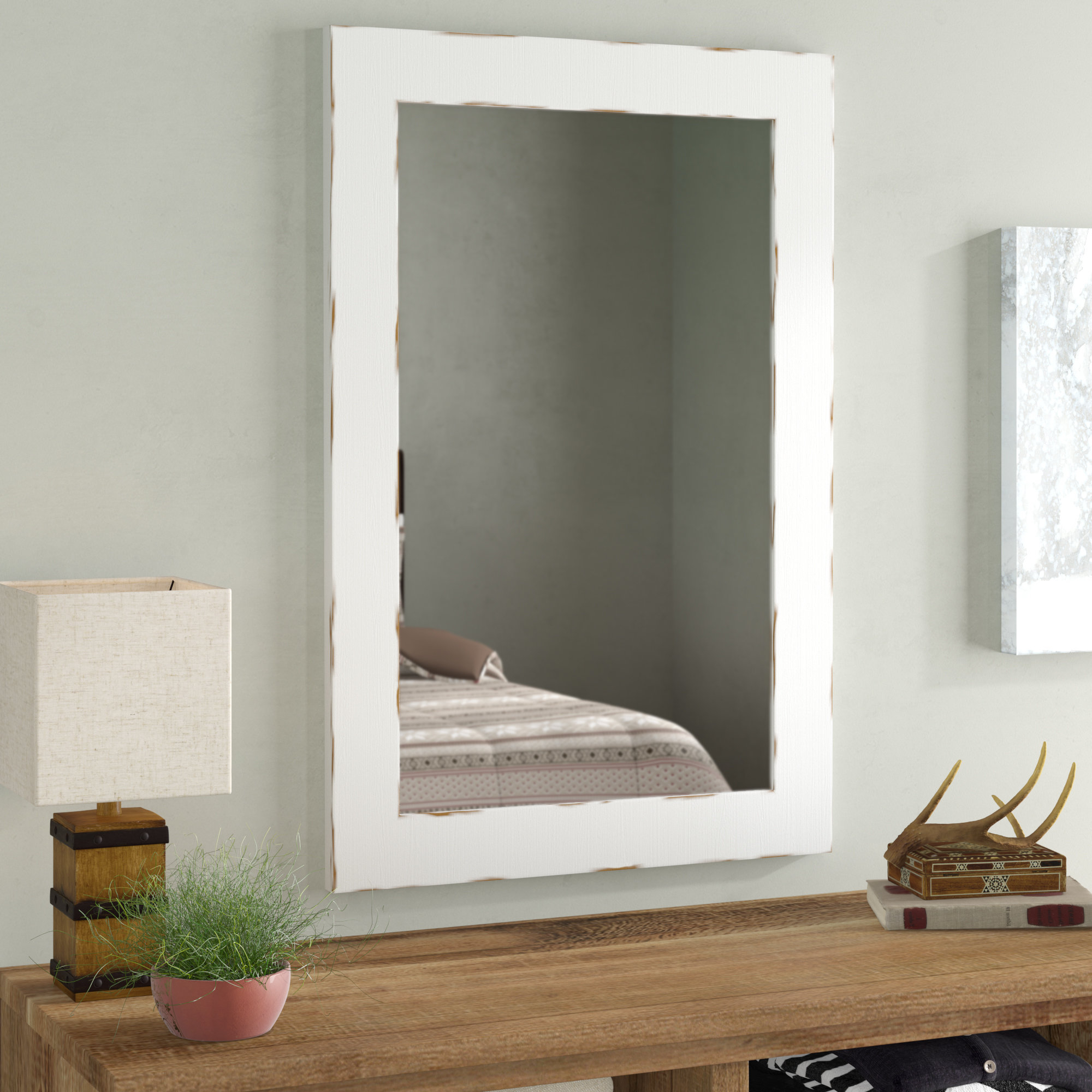 Wall Mirror Designs For Bedrooms Intended For Recent Union Rustic Longwood Rustic Beveled Accent Mirror & Reviews (View 8 of 20)