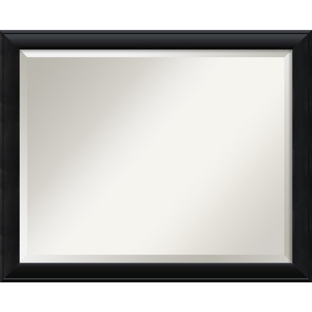 Wall Mirror Large, Nero Black 32 X 26 Inch – Large – 32 X 26 Inch Throughout Newest Black Framed Wall Mirrors (View 4 of 20)
