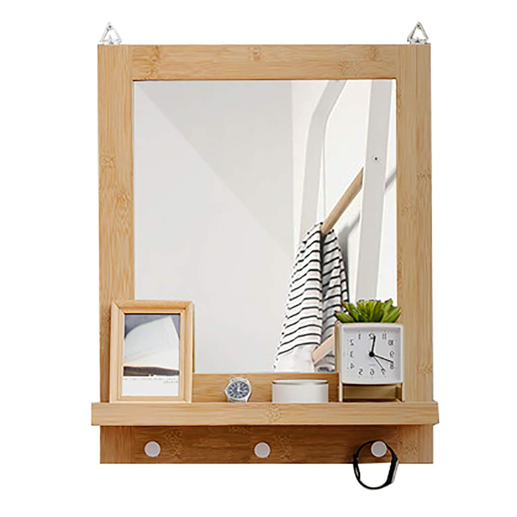 Wall Mirror With Coat Hooks In Trendy Amazon: Rectangle Bathroom Mirror  (View 12 of 20)